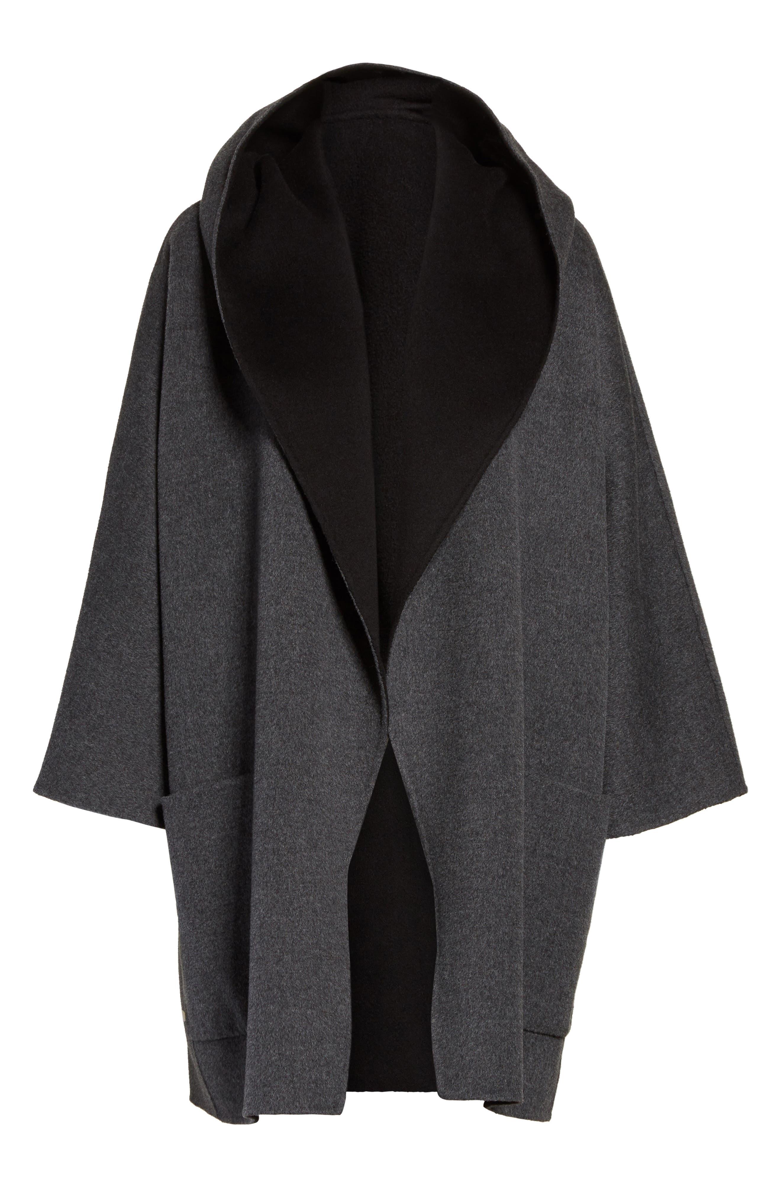 Double Face Wool & Cashmere Coat,                             Alternate thumbnail 5, color,                             060