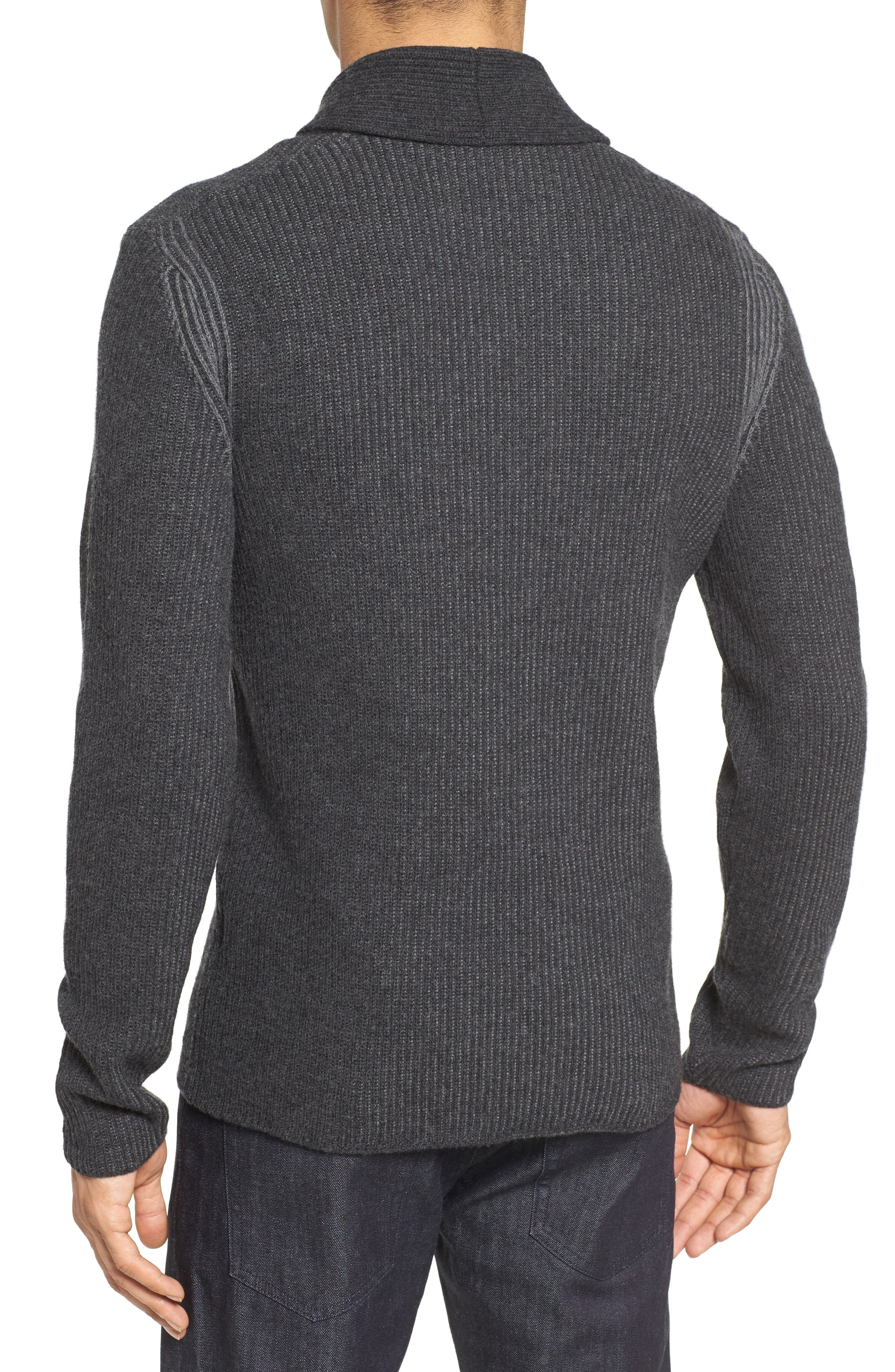 'Berno' Shawl Collar Wool Pullover,                             Alternate thumbnail 2, color,                             010