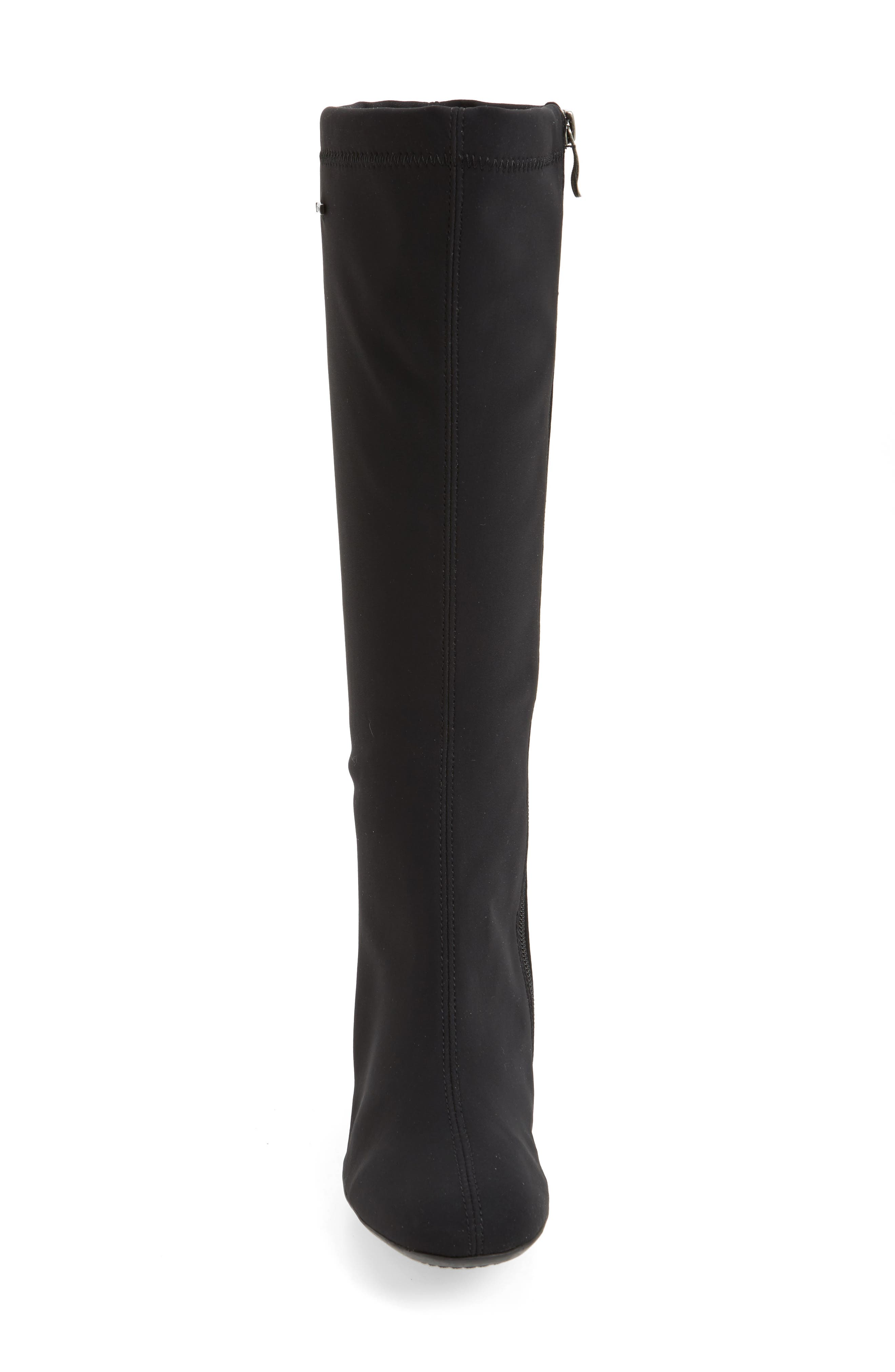 Clarissa Waterproof Gore-Tex<sup>®</sup> Tall Boot,                             Alternate thumbnail 4, color,                             001