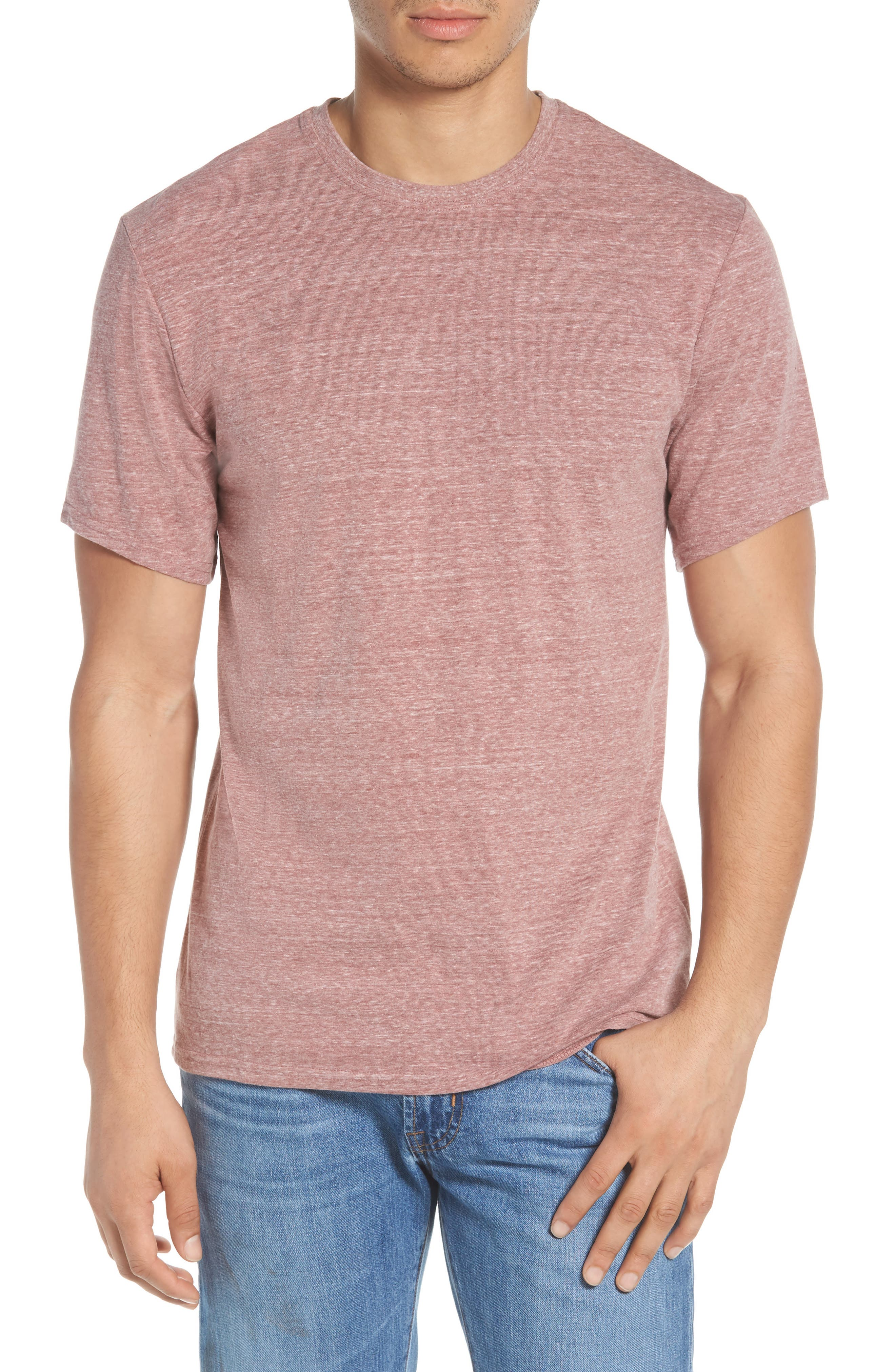 Threads for Thought Heathered Crew Neck,                             Main thumbnail 7, color,