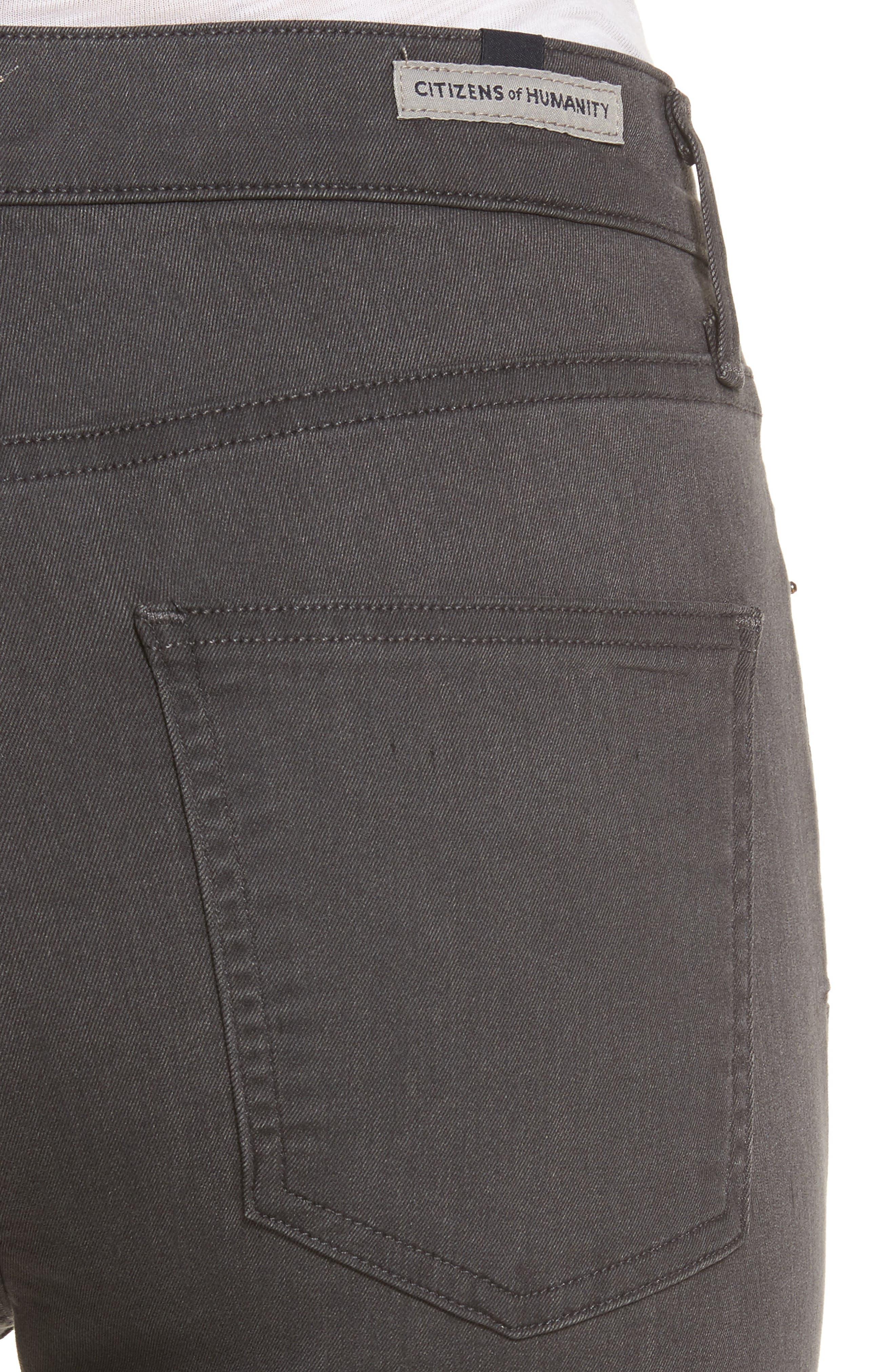 Rocket Petite High Waist Skinny Jeans,                             Alternate thumbnail 4, color,                             034