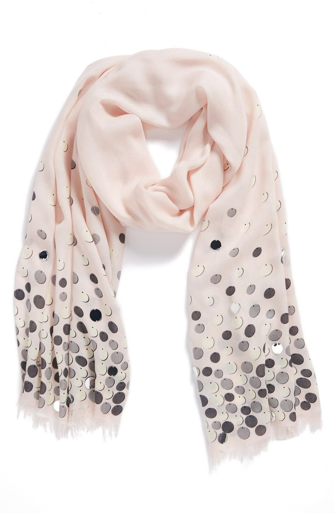 'paillettes' scarf,                             Alternate thumbnail 2, color,