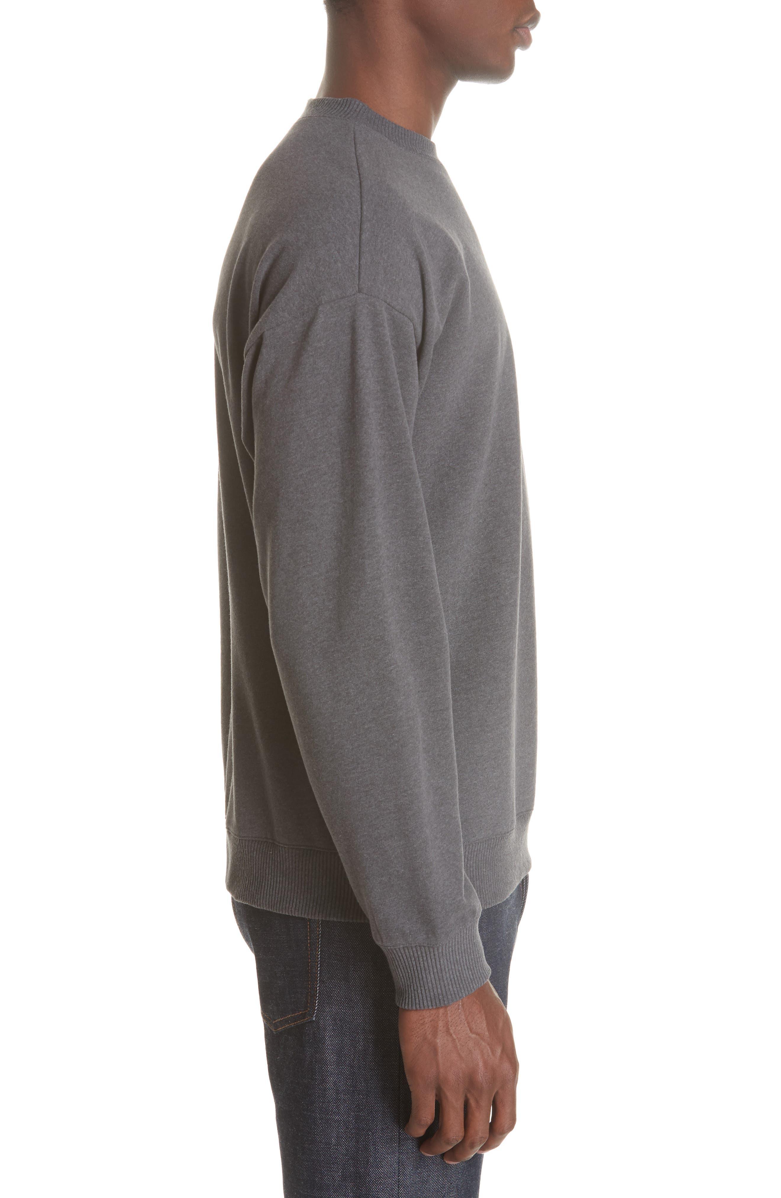 Roman Crewneck Sweatshirt,                             Alternate thumbnail 3, color,                             ANTHRACITE LAD