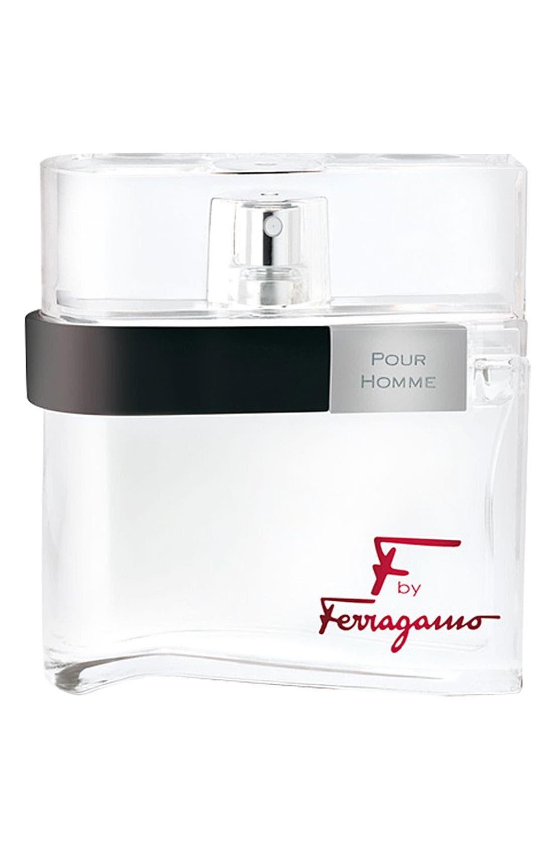 'F by Ferragamo pour Homme' Eau de Toilette,                             Main thumbnail 1, color,                             000