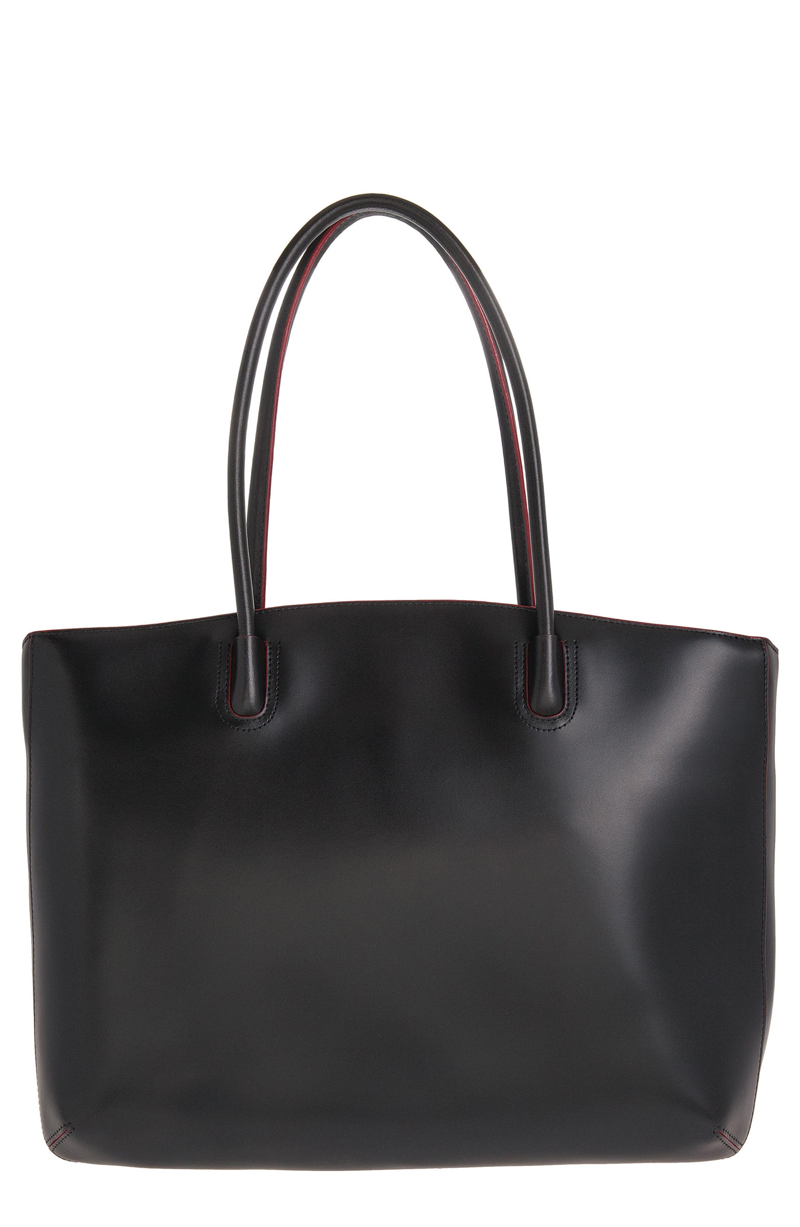 Lodis 'Audrey - Milano' Leather Computer Tote, Main, color, 001