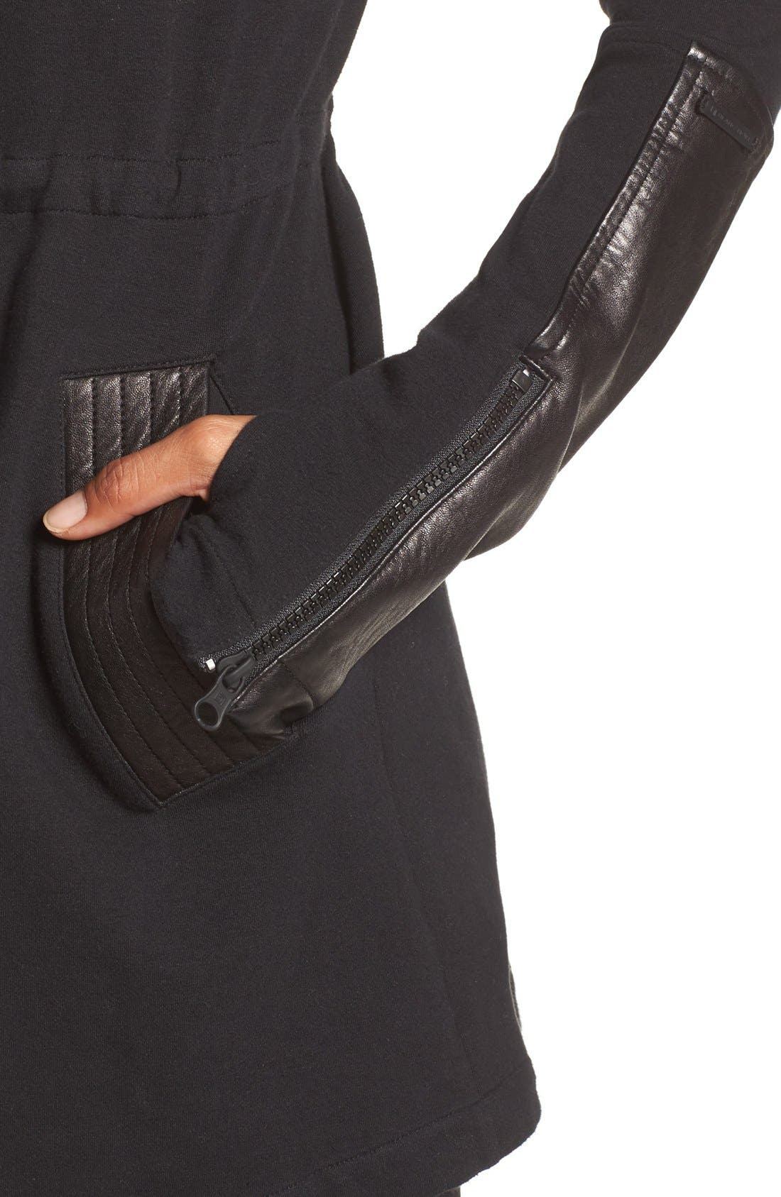 Traveler Wrap Jacket,                             Alternate thumbnail 11, color,                             BLACK/ BLACK