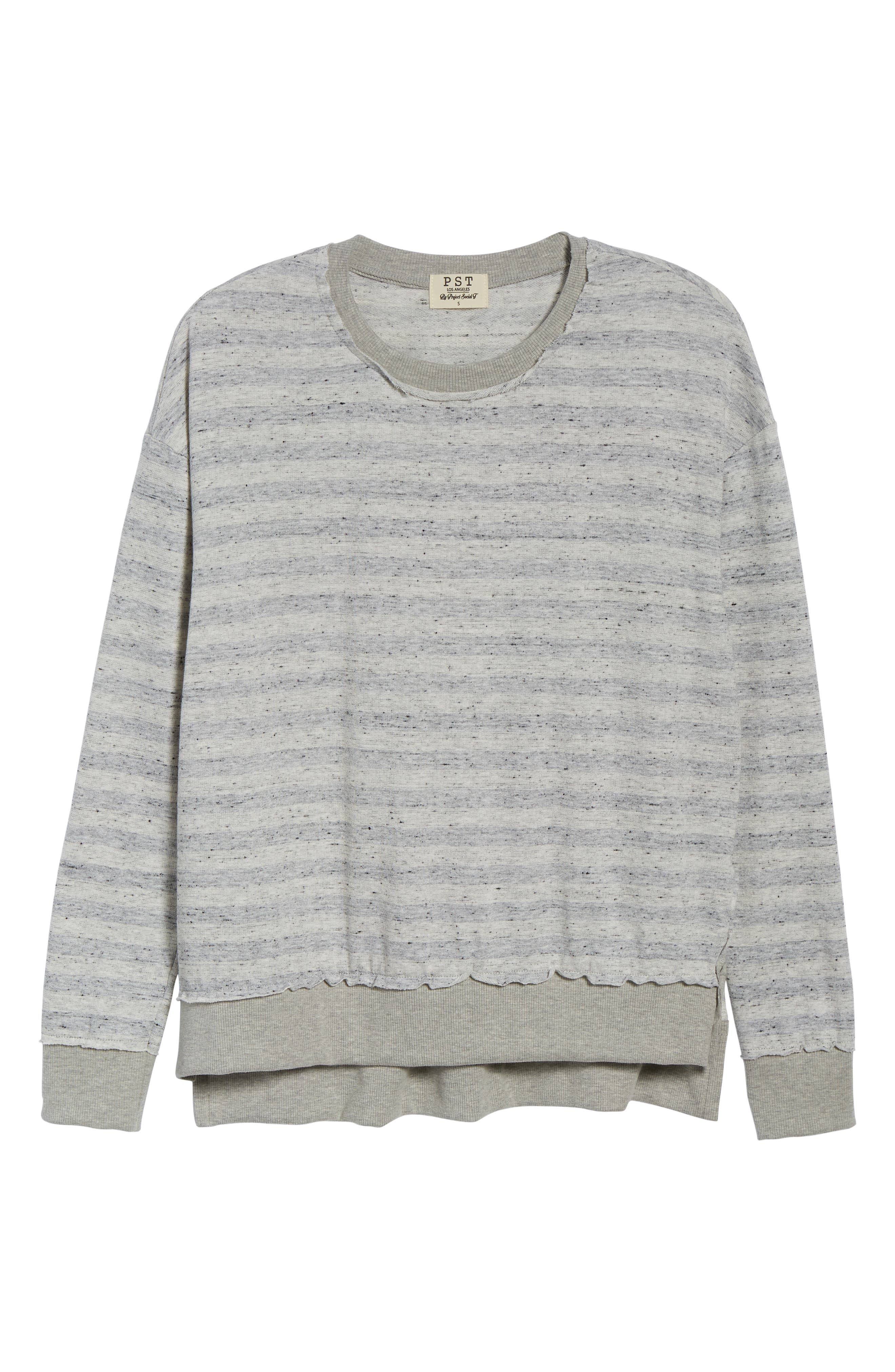 Stripe Inside Out Pullover,                             Alternate thumbnail 6, color,                             020