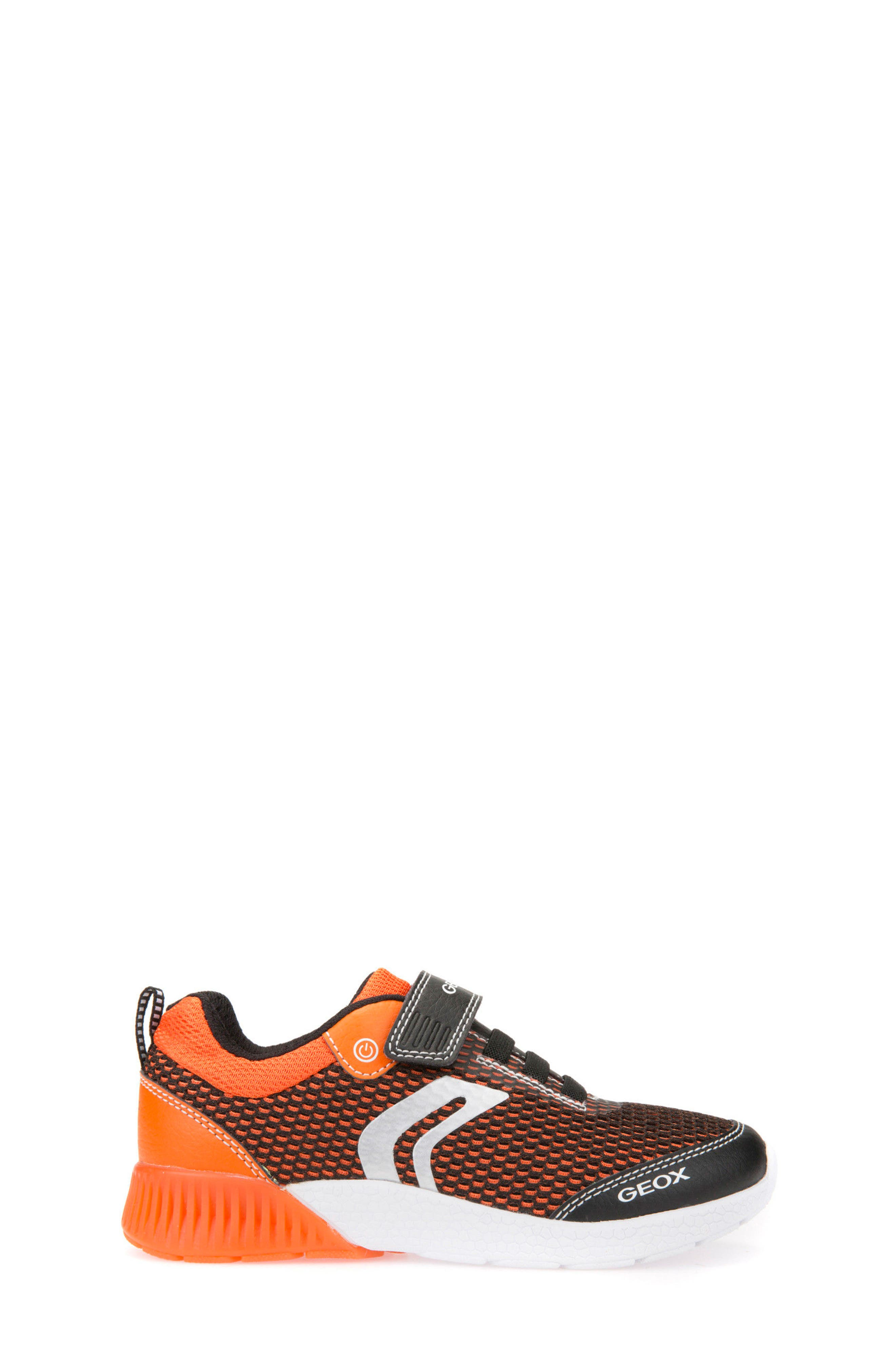 Sveth Light-Up Sneaker,                             Alternate thumbnail 3, color,                             BLACK/ ORANGE