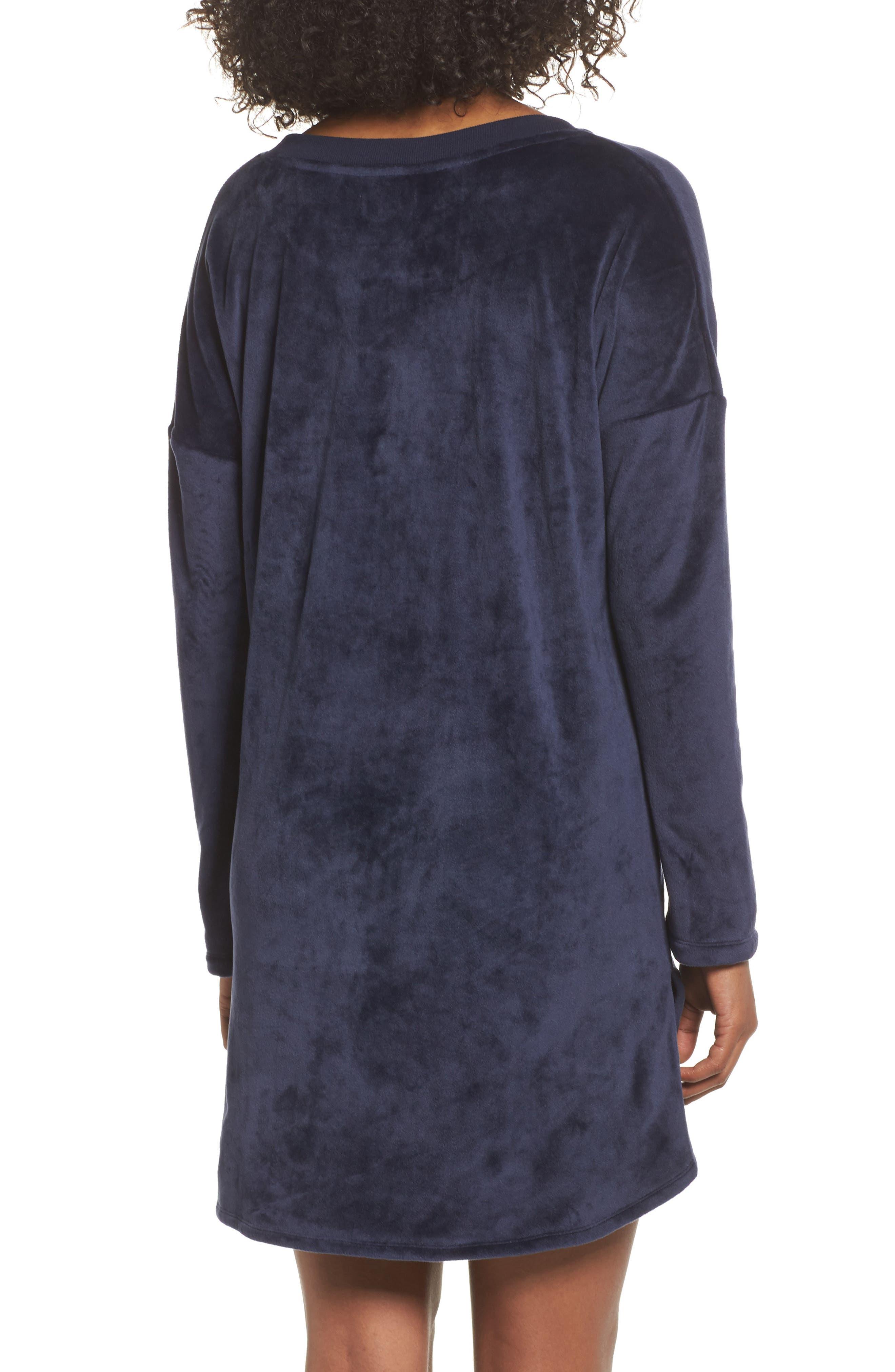 Luxury Plush Sleep Shirt,                             Alternate thumbnail 4, color,