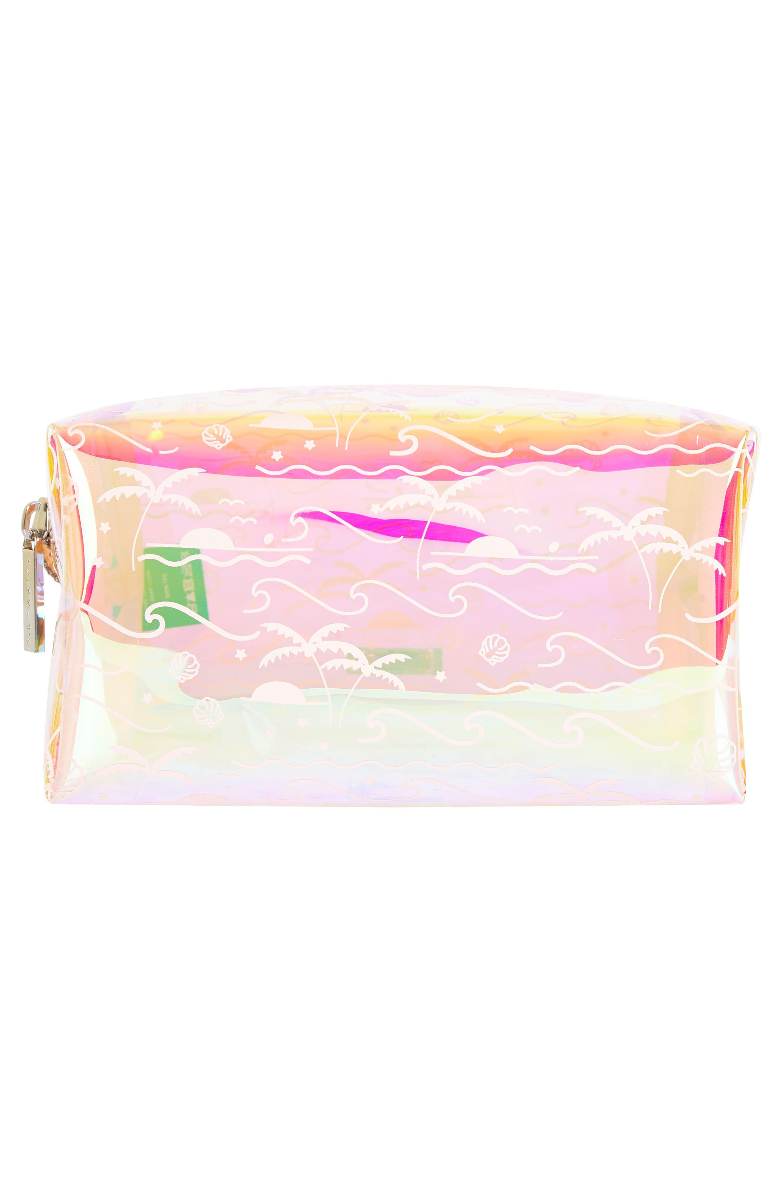 Skinny Dip Ocean Breeze Makeup Bag,                             Alternate thumbnail 2, color,                             000