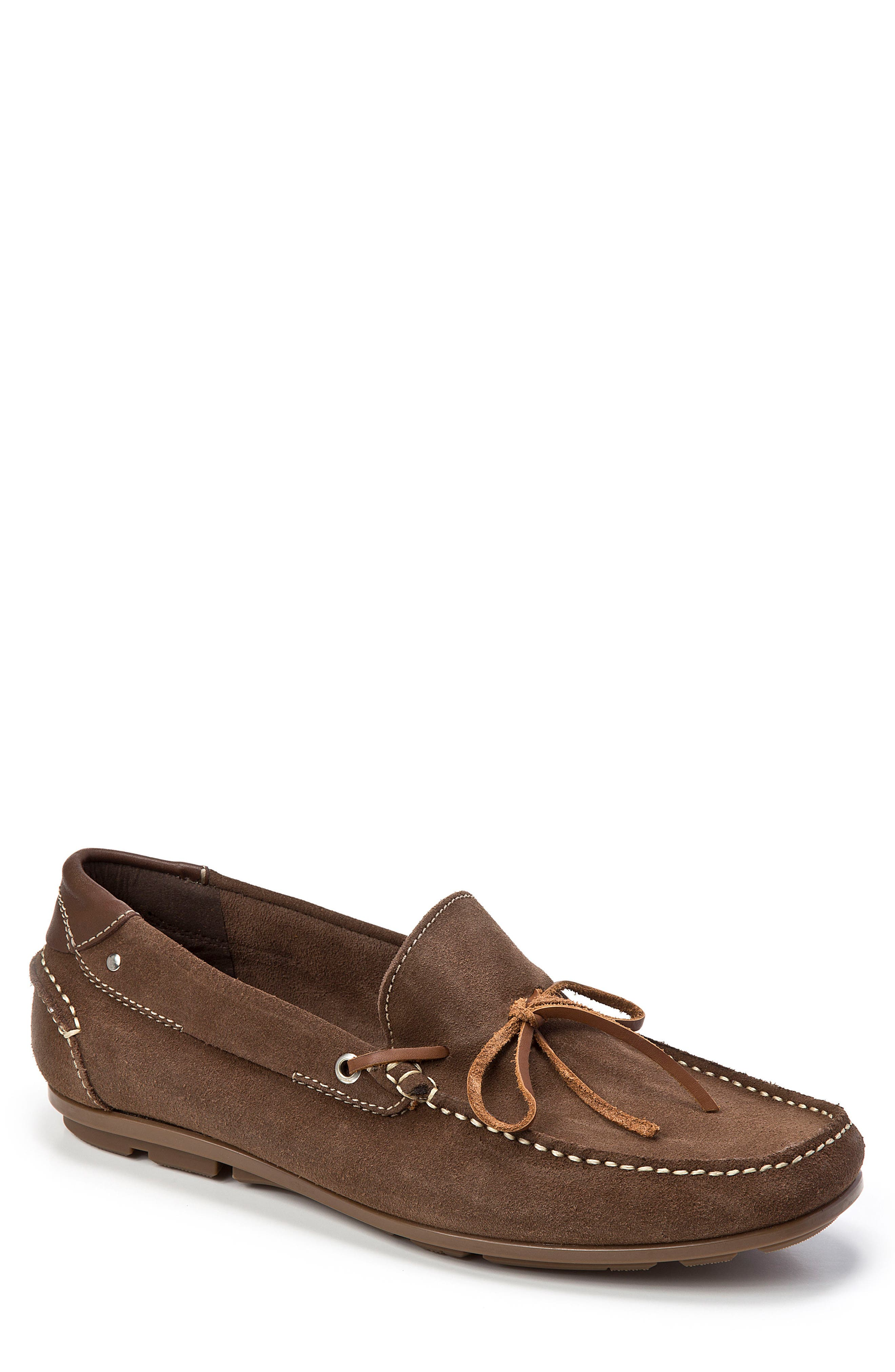 Andres Driving Moccasin,                             Main thumbnail 1, color,                             BROWN