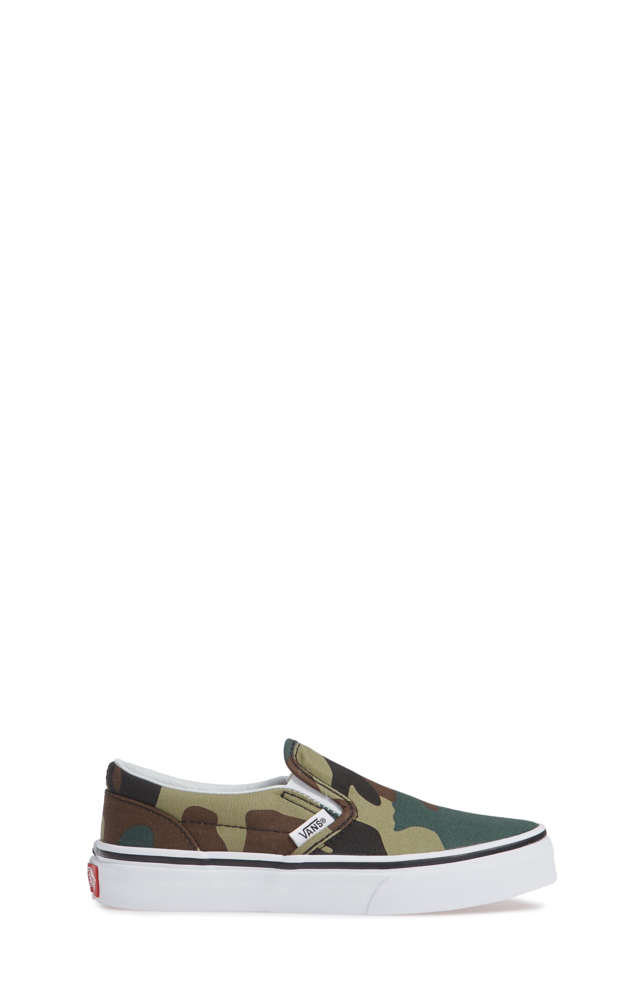 Classic Slip-On Sneaker,                             Alternate thumbnail 3, color,                             WOODLAND CAMO BLACK/ WOODLAND
