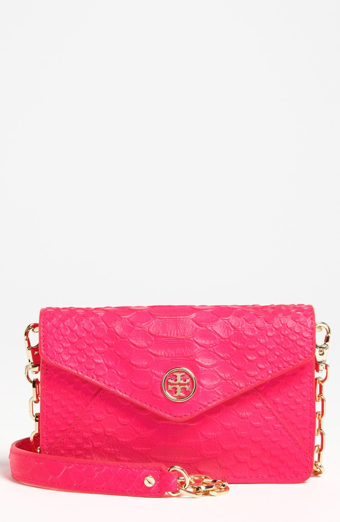 TORY BURCH 'Neon Snake' Crossbody Bag, Main, color, 658