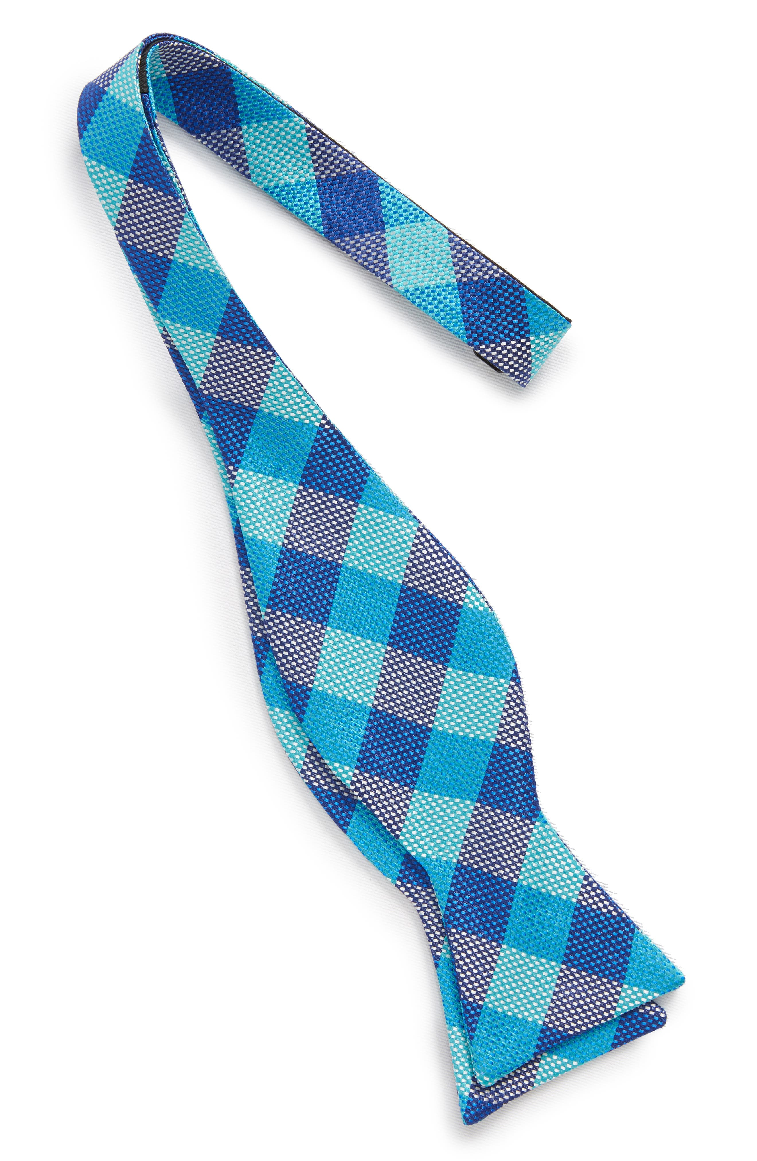 Derby Check Silk Bow Tie,                             Alternate thumbnail 2, color,                             322
