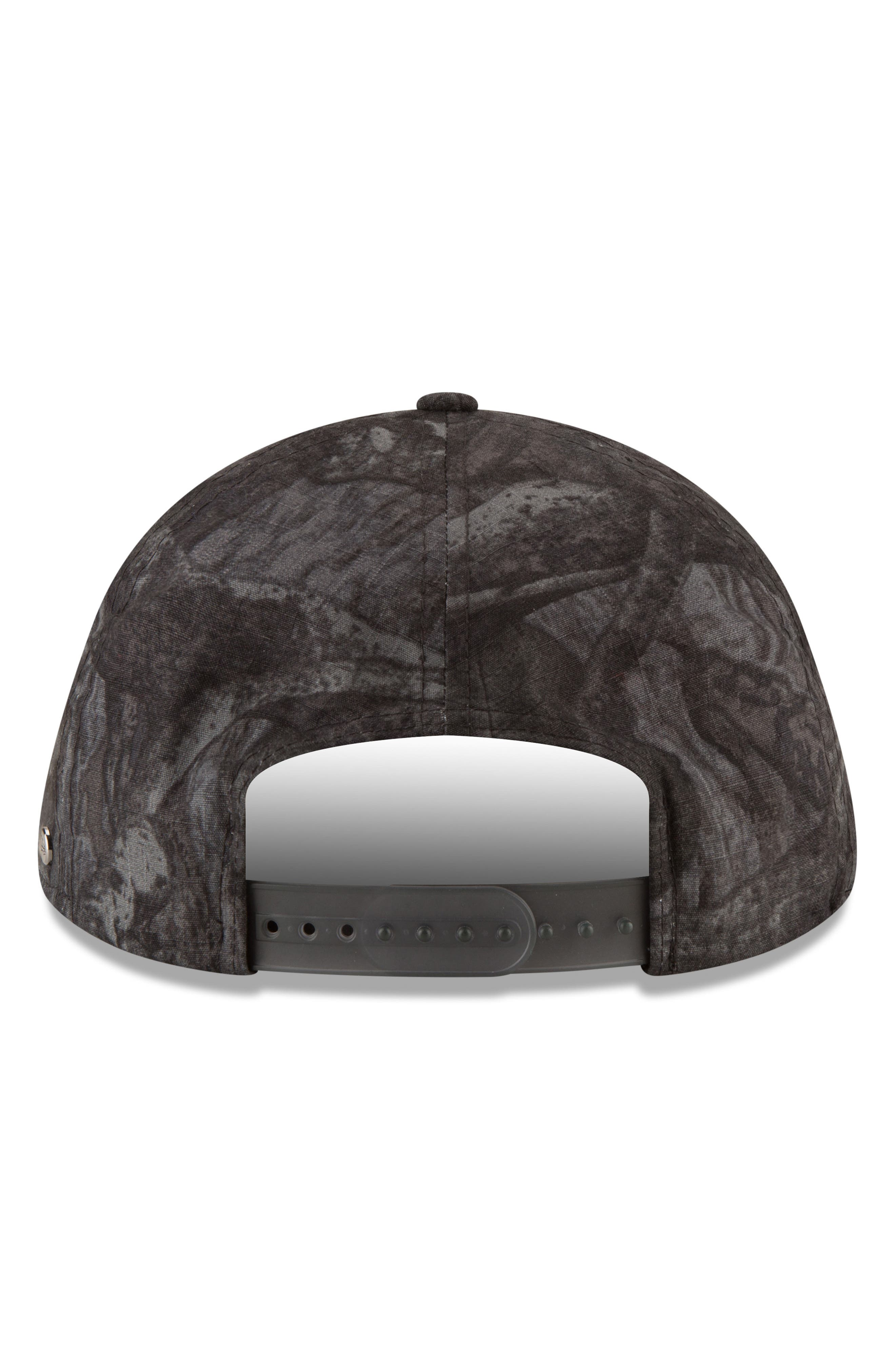 9Twenty Tonal Camo Flat Brim Hat,                             Alternate thumbnail 2, color,                             BLACK