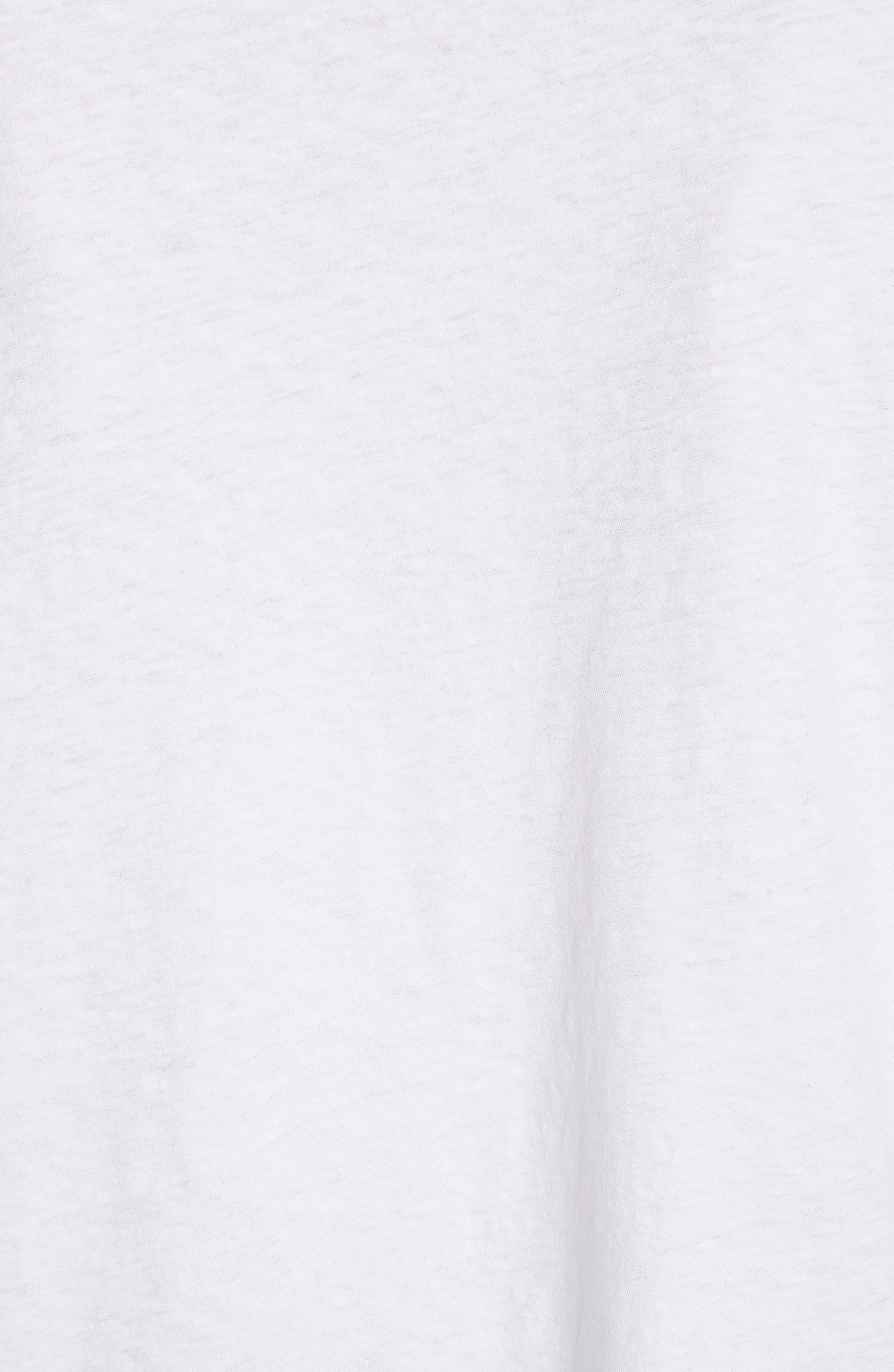 Teagan Palm Embroidered Crop Tee,                             Alternate thumbnail 5, color,                             101