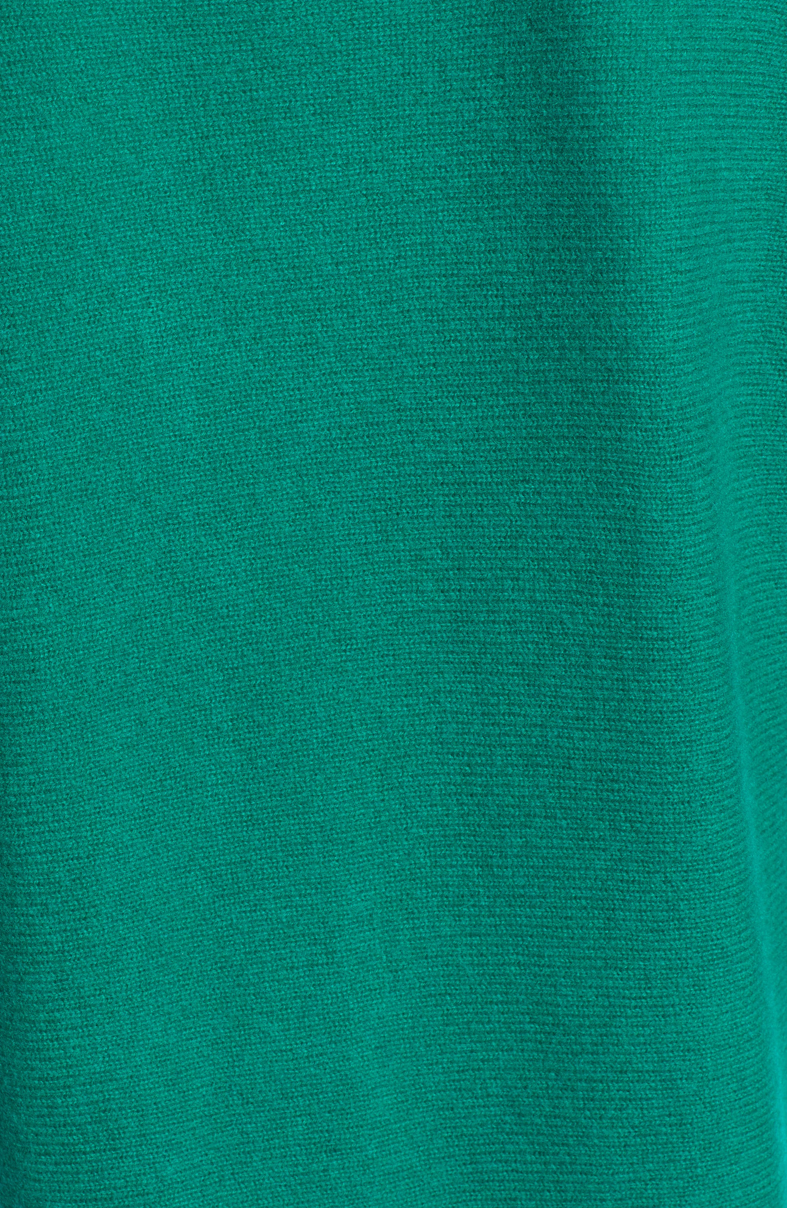 High/Low Wool & Cashmere Tunic Sweater,                             Alternate thumbnail 5, color,                             GREEN ULTRA
