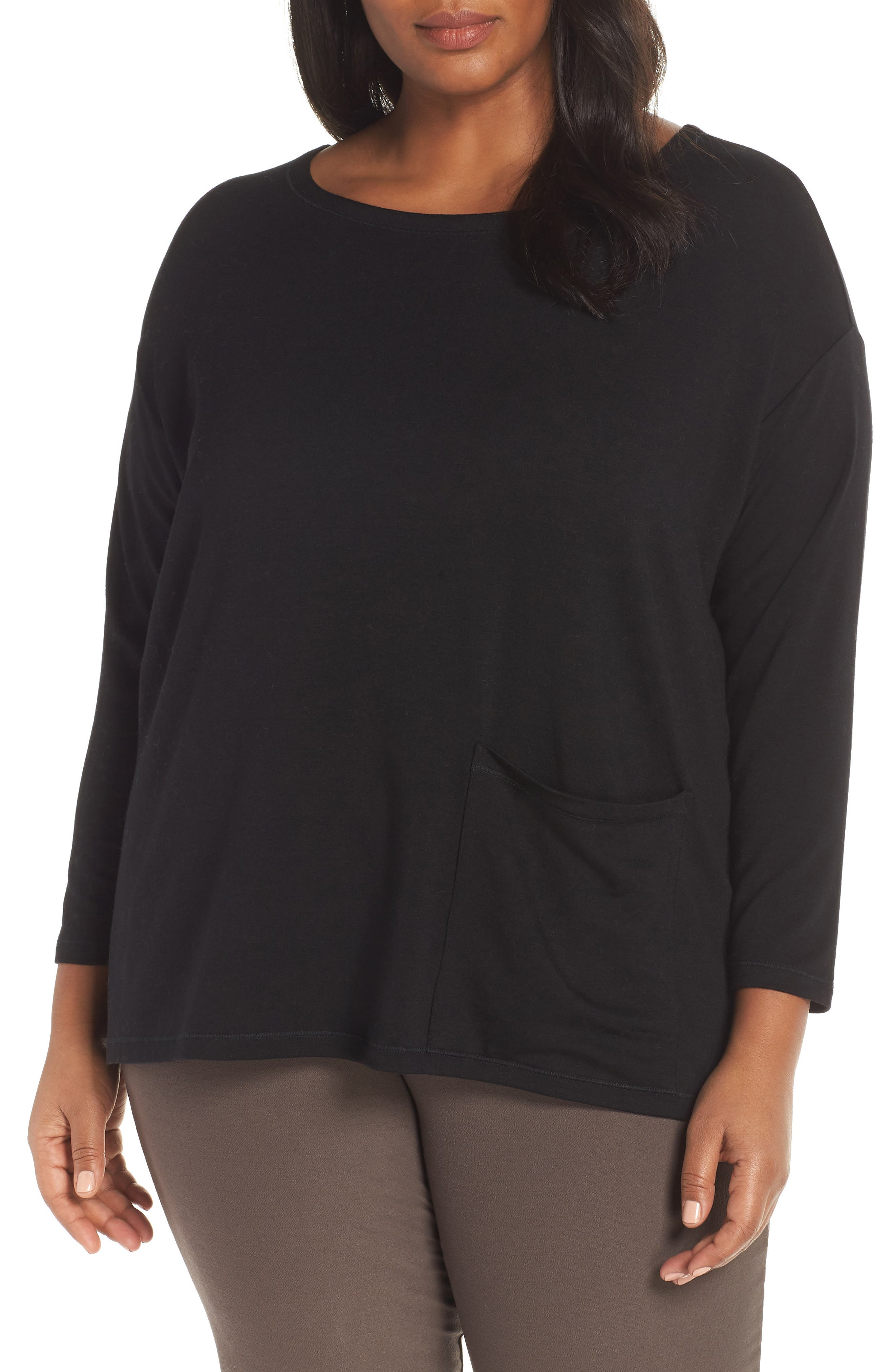 Stretch Terry Top,                             Alternate thumbnail 2, color,                             BLACK