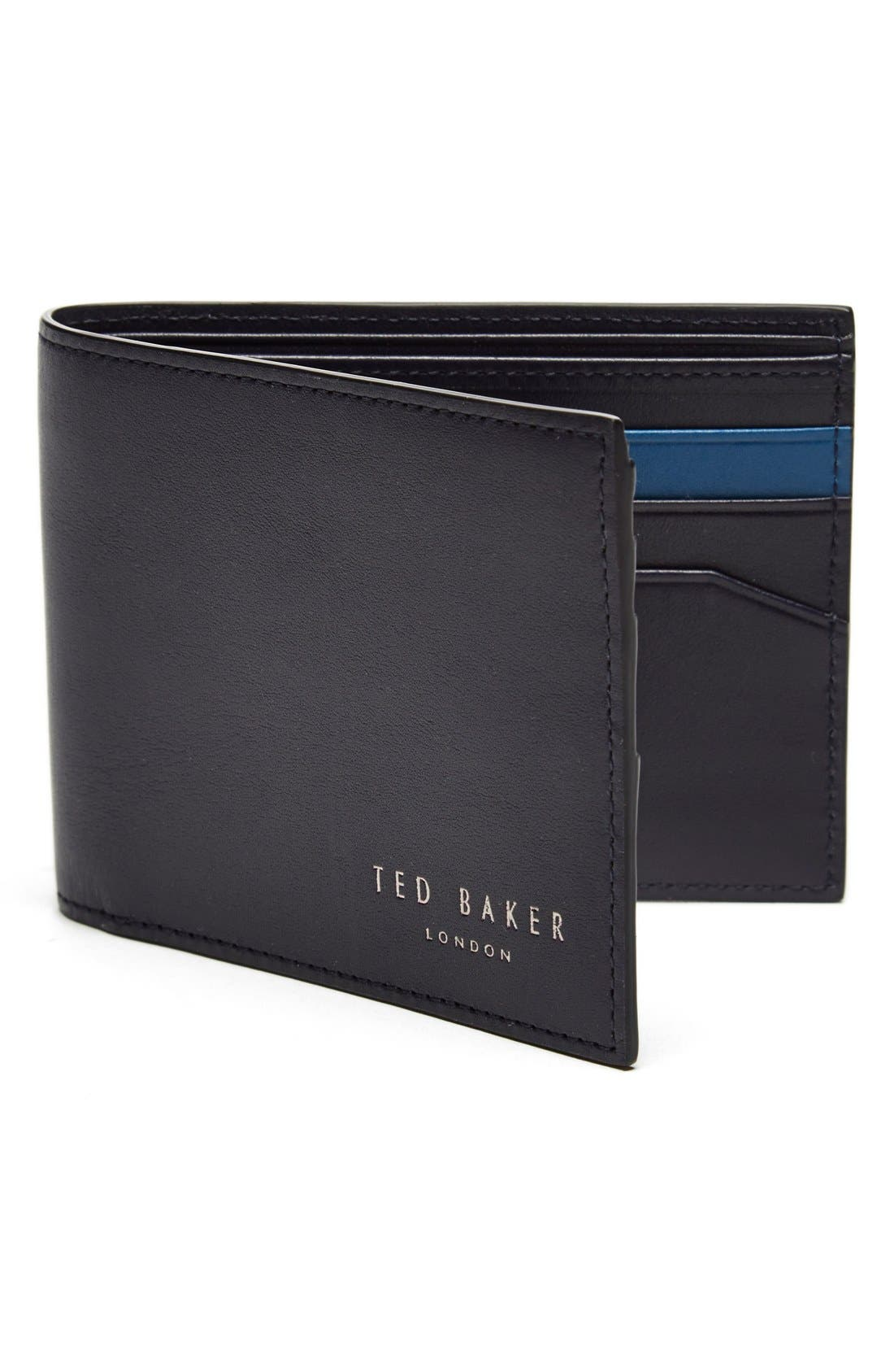 Leather Wallet,                         Main,                         color, 410