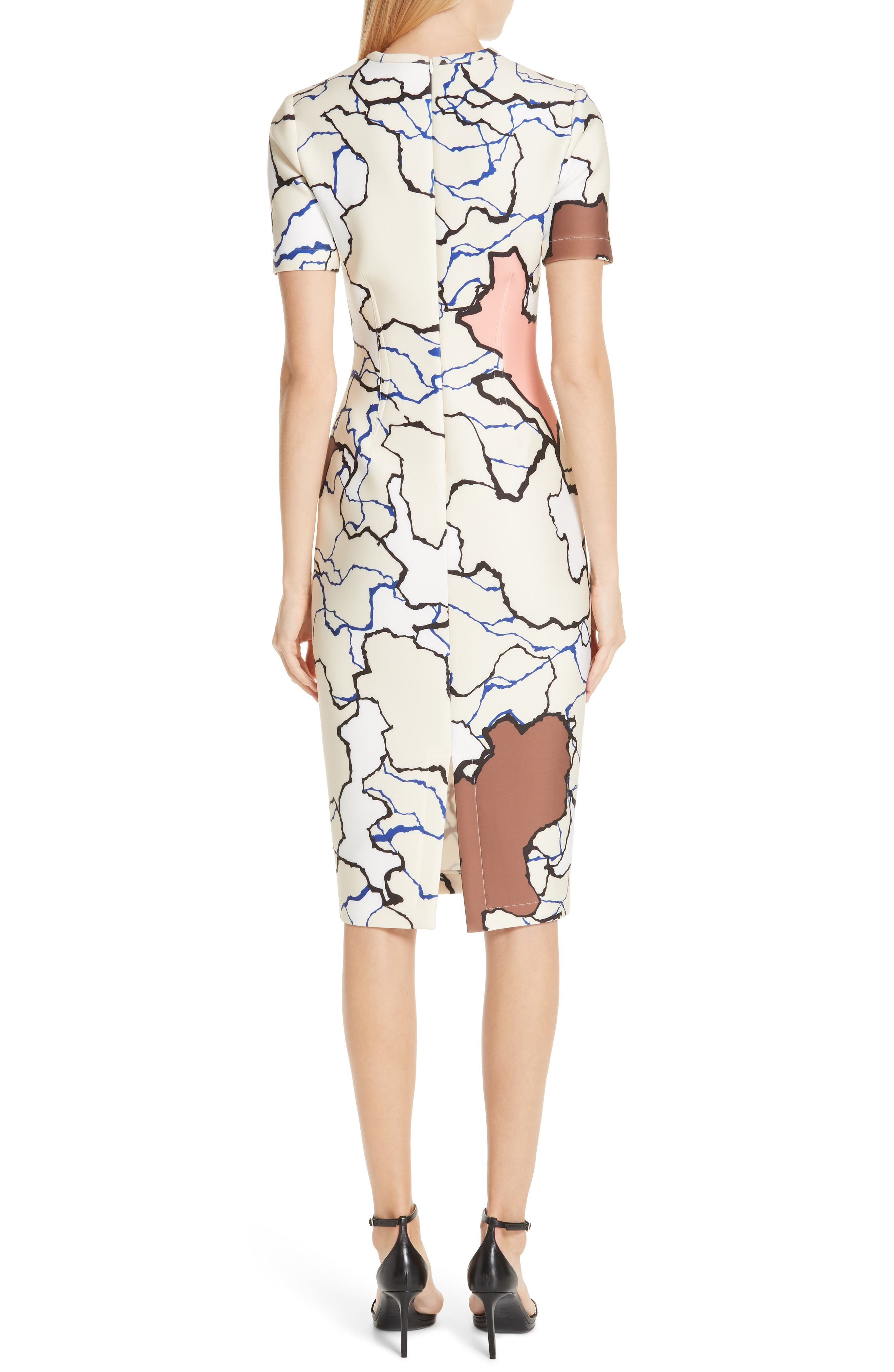 YIGAL AZROUËL,                             Terrazzo Print Scuba Dress,                             Alternate thumbnail 2, color,                             MULTI