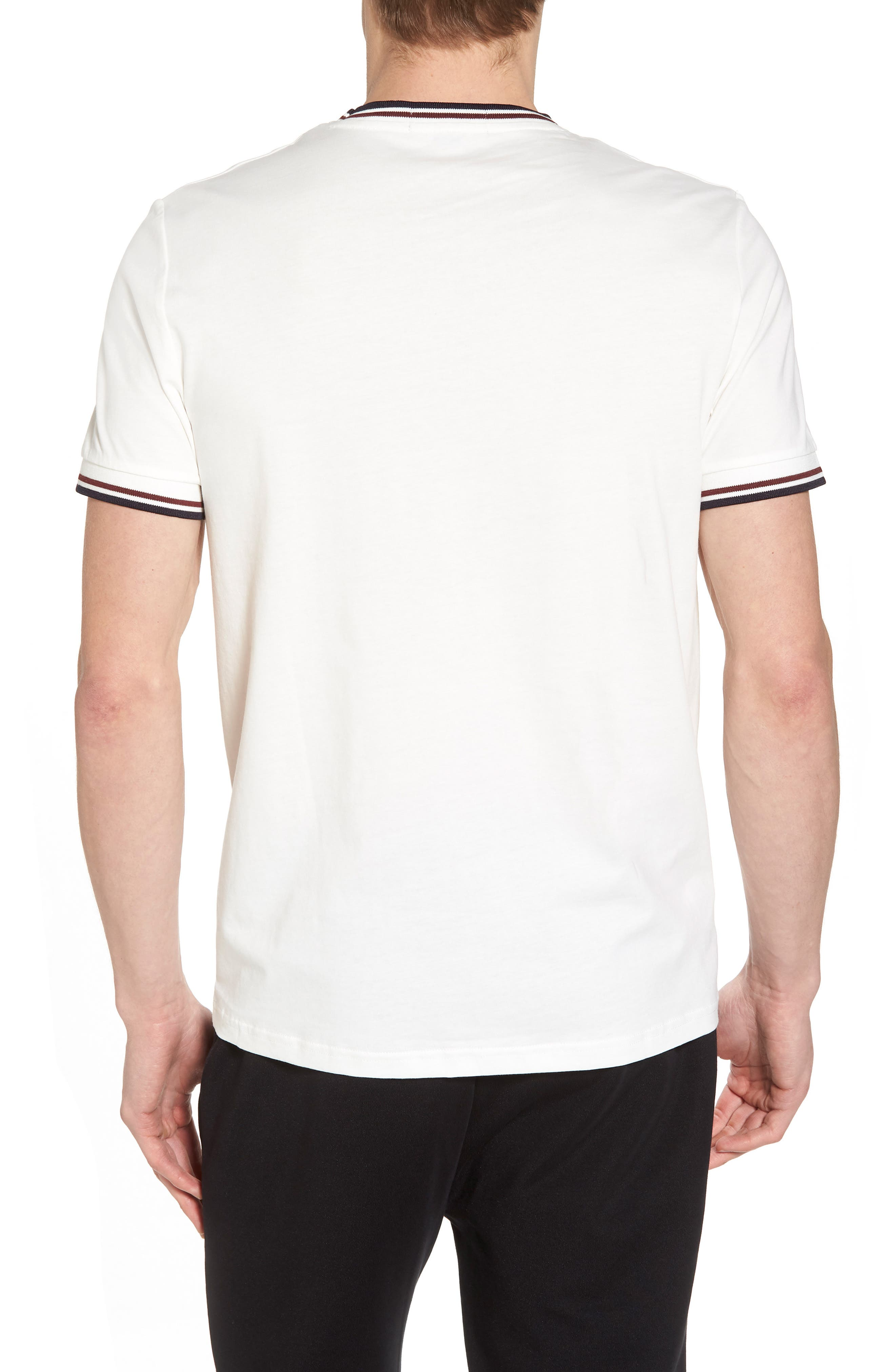 FRED PERRY,                             Tipped T-Shirt,                             Alternate thumbnail 2, color,                             100