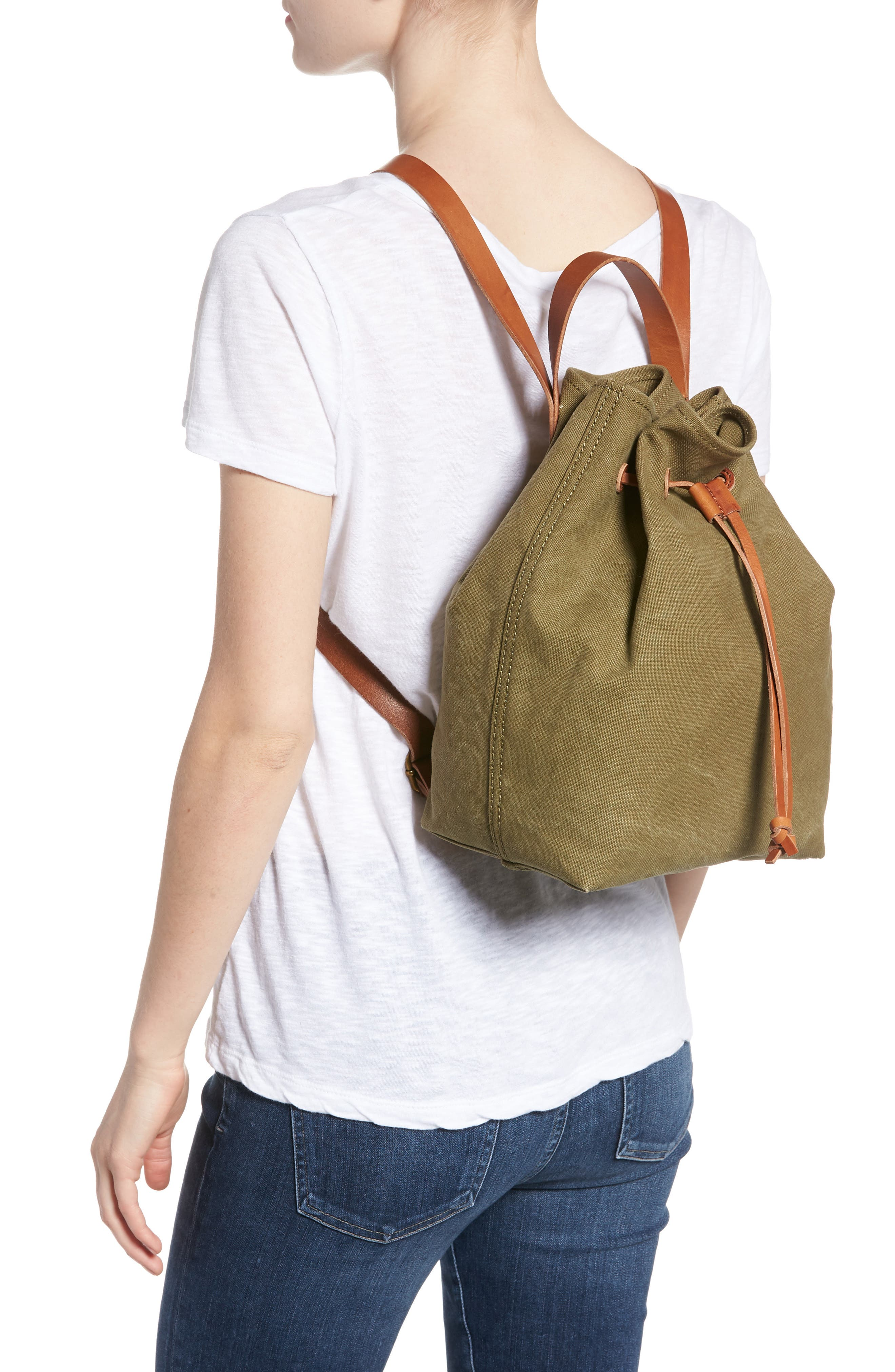 Somerset Canvas Backpack,                             Alternate thumbnail 6, color,