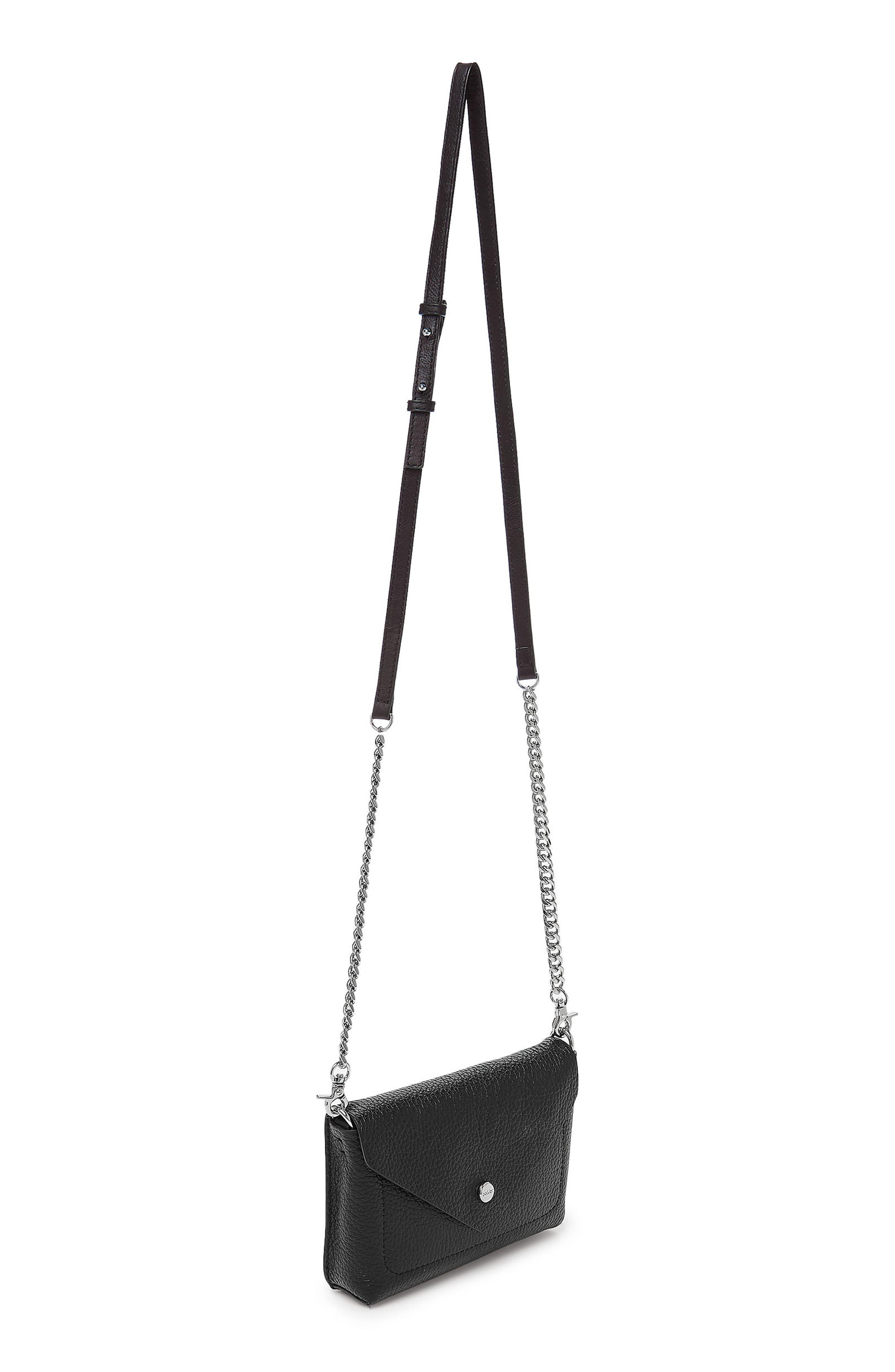 Vivi Calfskin Leather Convertible Belt Bag,                             Alternate thumbnail 9, color,                             BLACK
