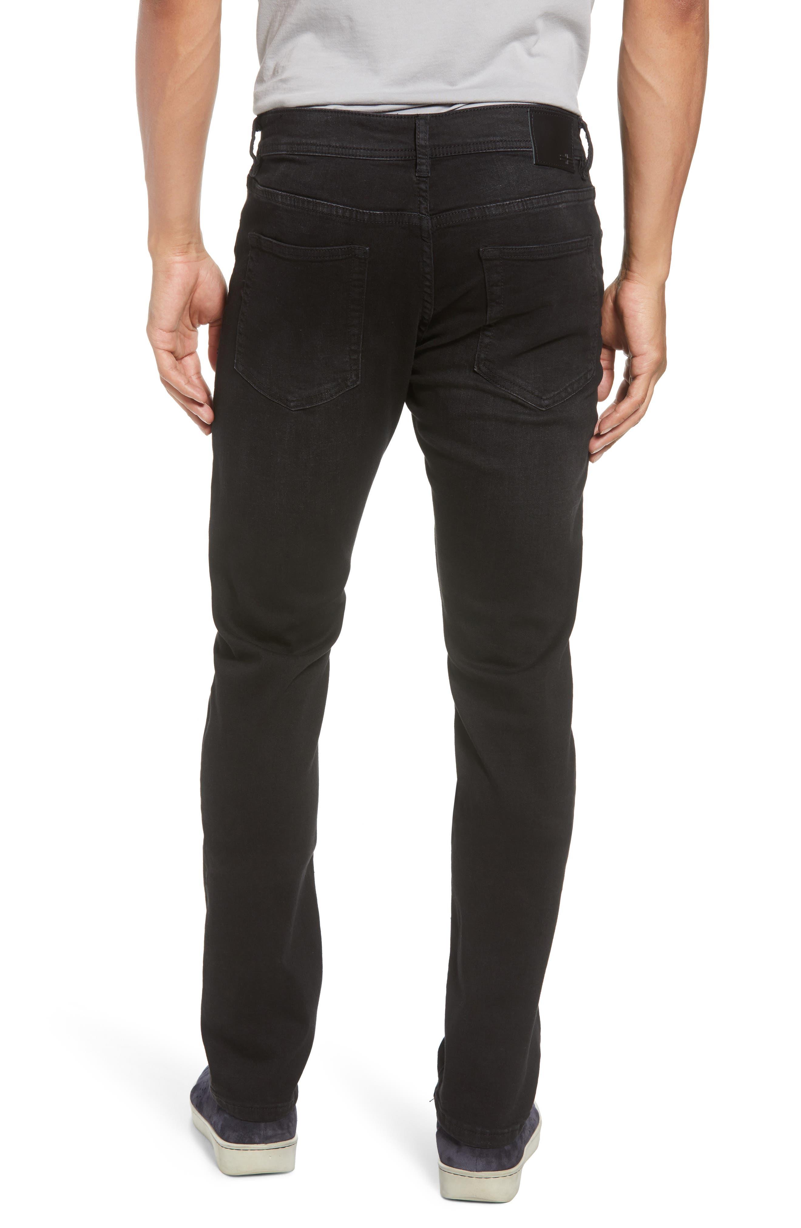 Kingston Slim Straight Leg Jeans,                             Alternate thumbnail 2, color,                             BULLET DARK