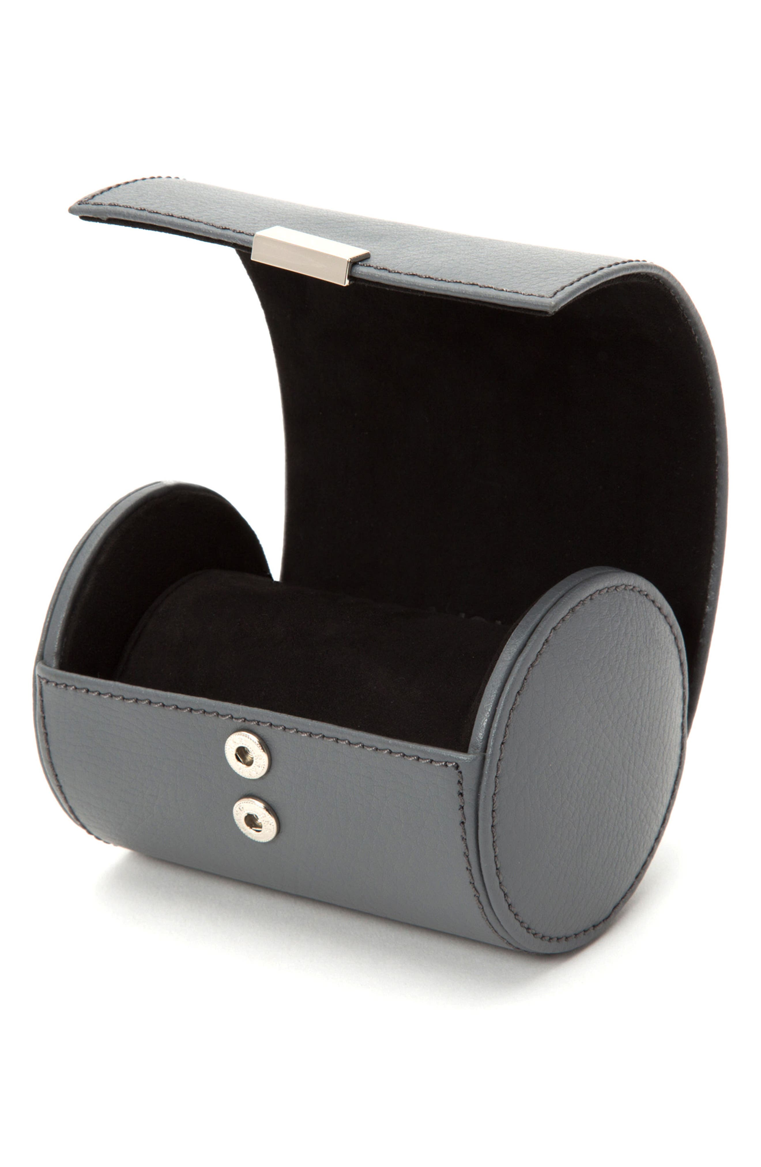 Howard Leather Watch Roll Case,                             Alternate thumbnail 3, color,                             GREY