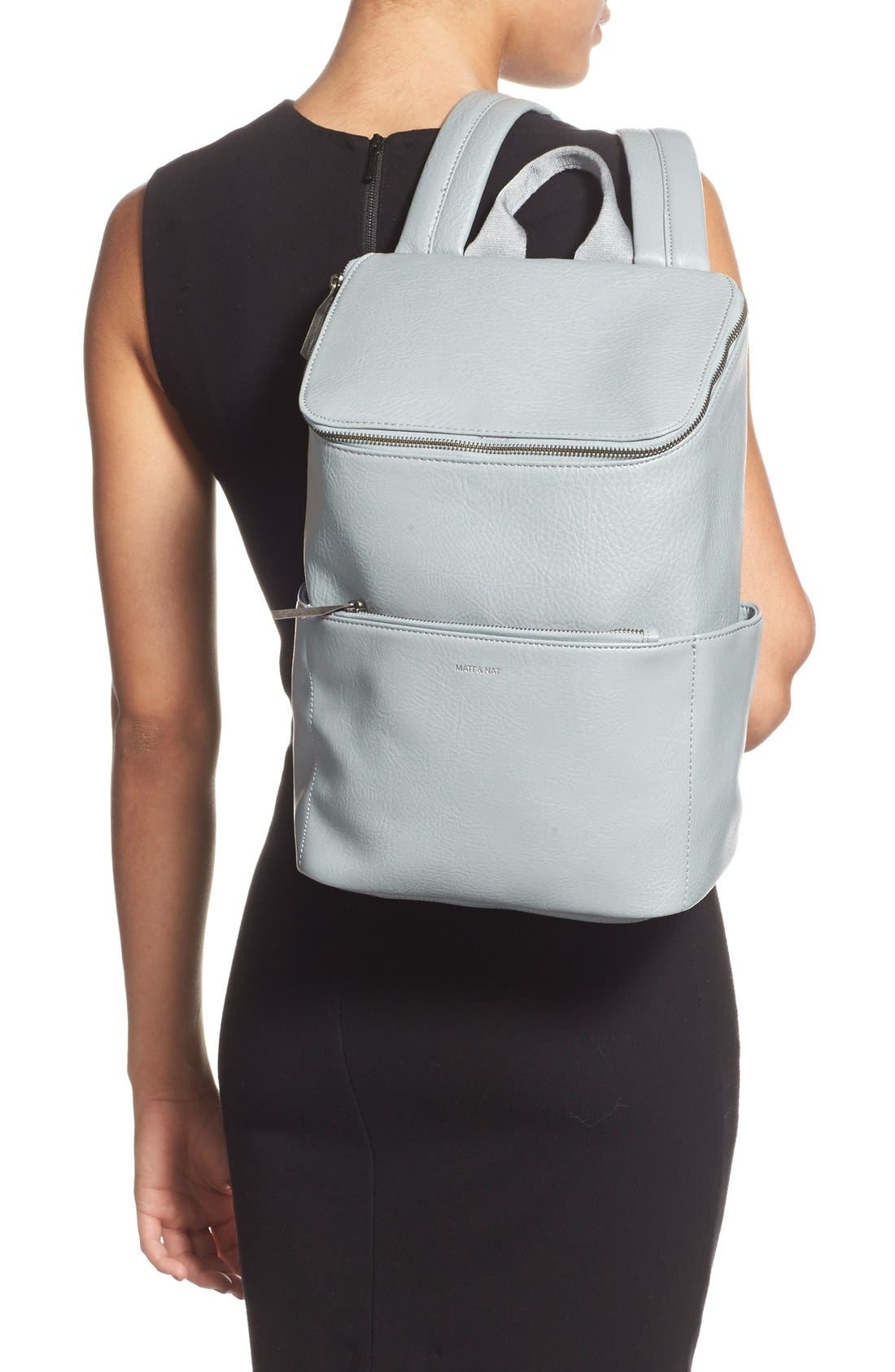 'Brave' Faux Leather Backpack,                             Alternate thumbnail 41, color,