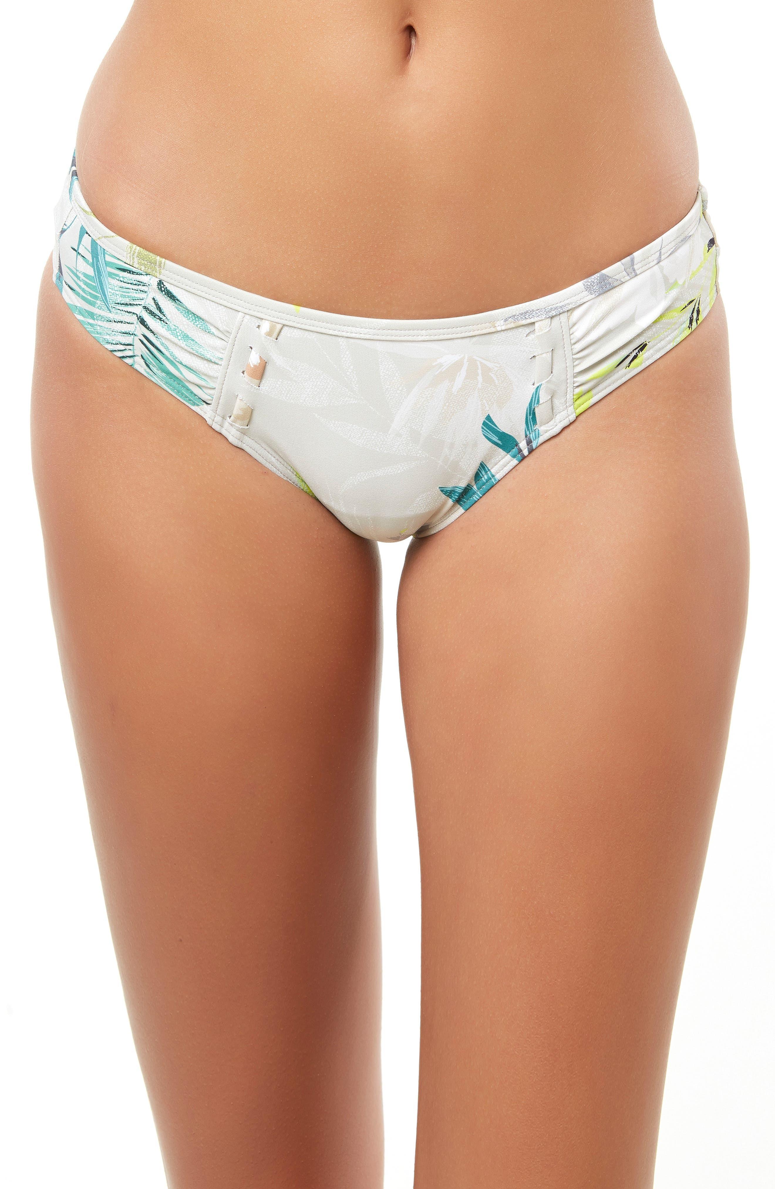 Collins 365 Hybrid Hipster Bikini Bottoms,                             Main thumbnail 1, color,                             GREY MULTI