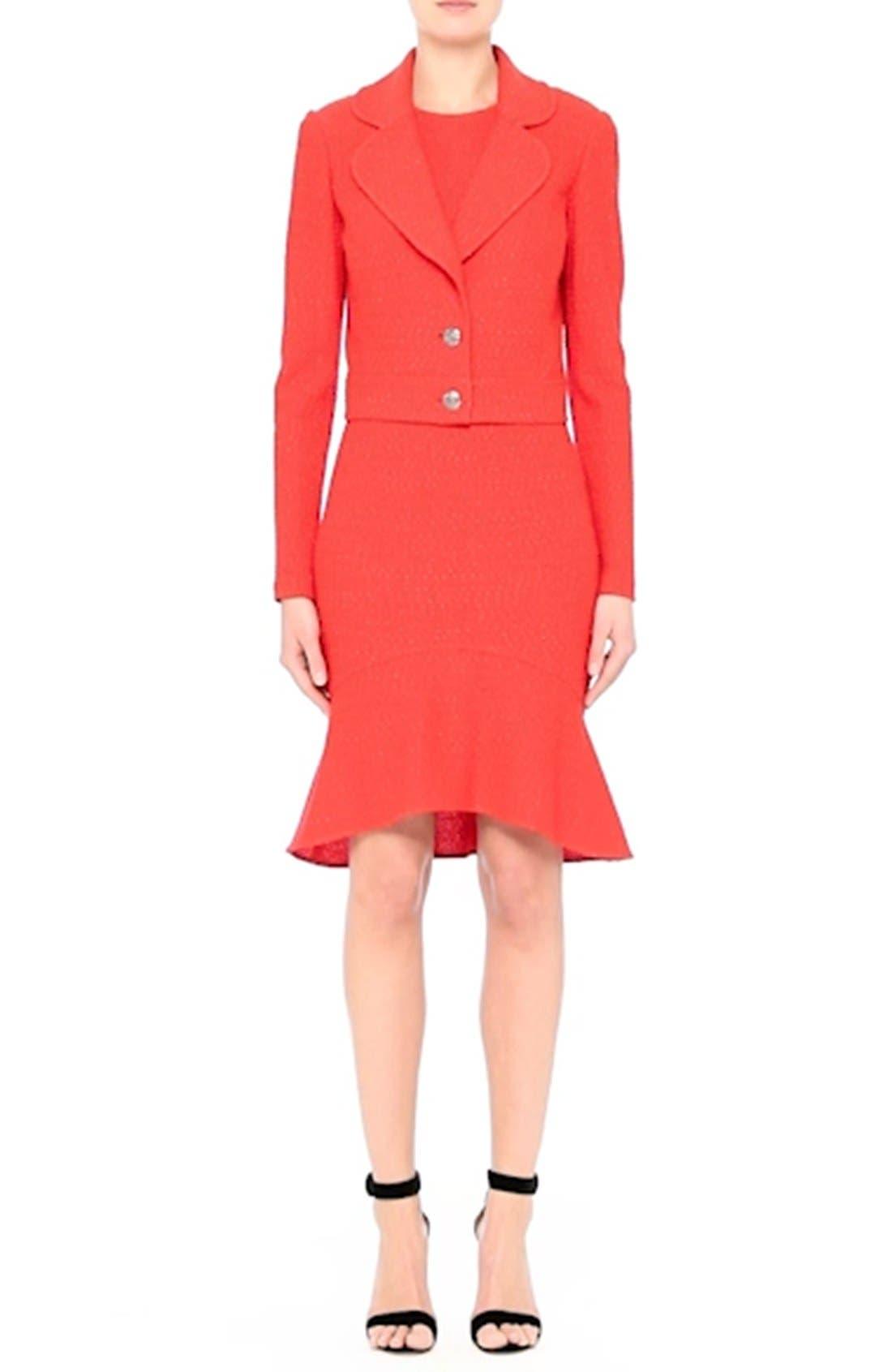 Ribbon Knit Flounce Dress,                             Alternate thumbnail 8, color,                             610
