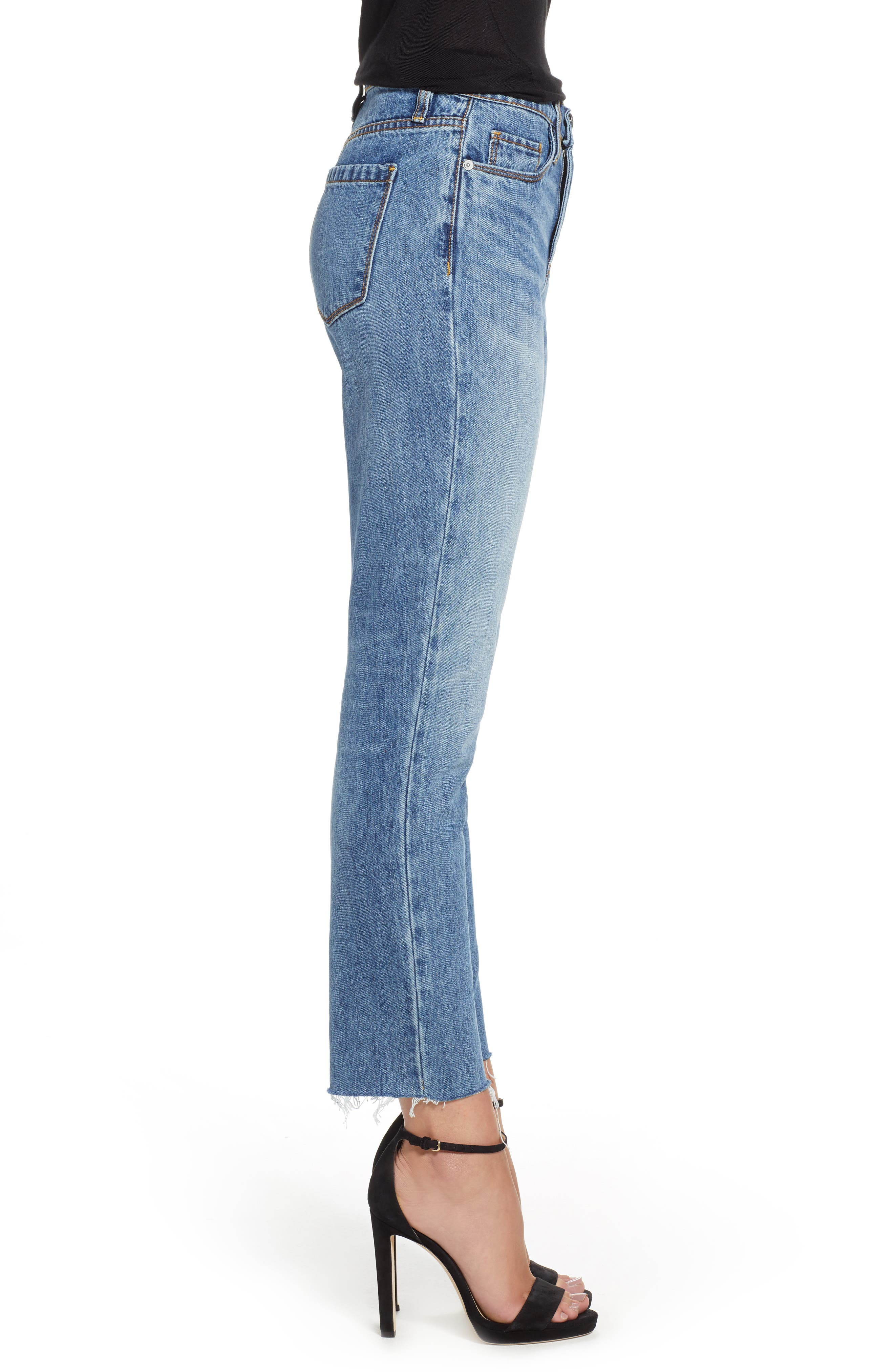 The Madison Straight Leg Crop Jeans,                             Alternate thumbnail 3, color,                             420