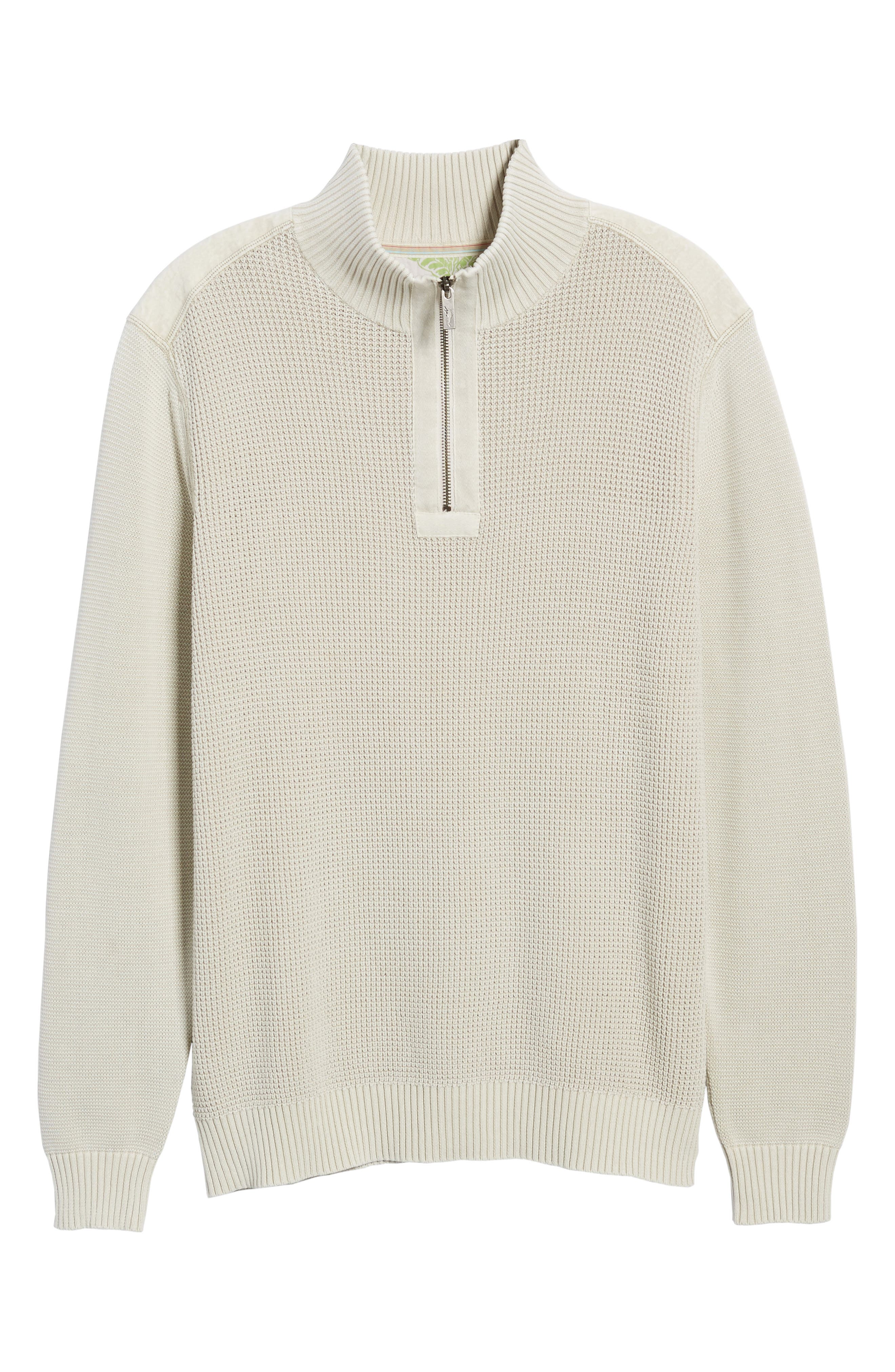 'Coastal Shores' Quarter Zip Sweater,                             Alternate thumbnail 49, color,