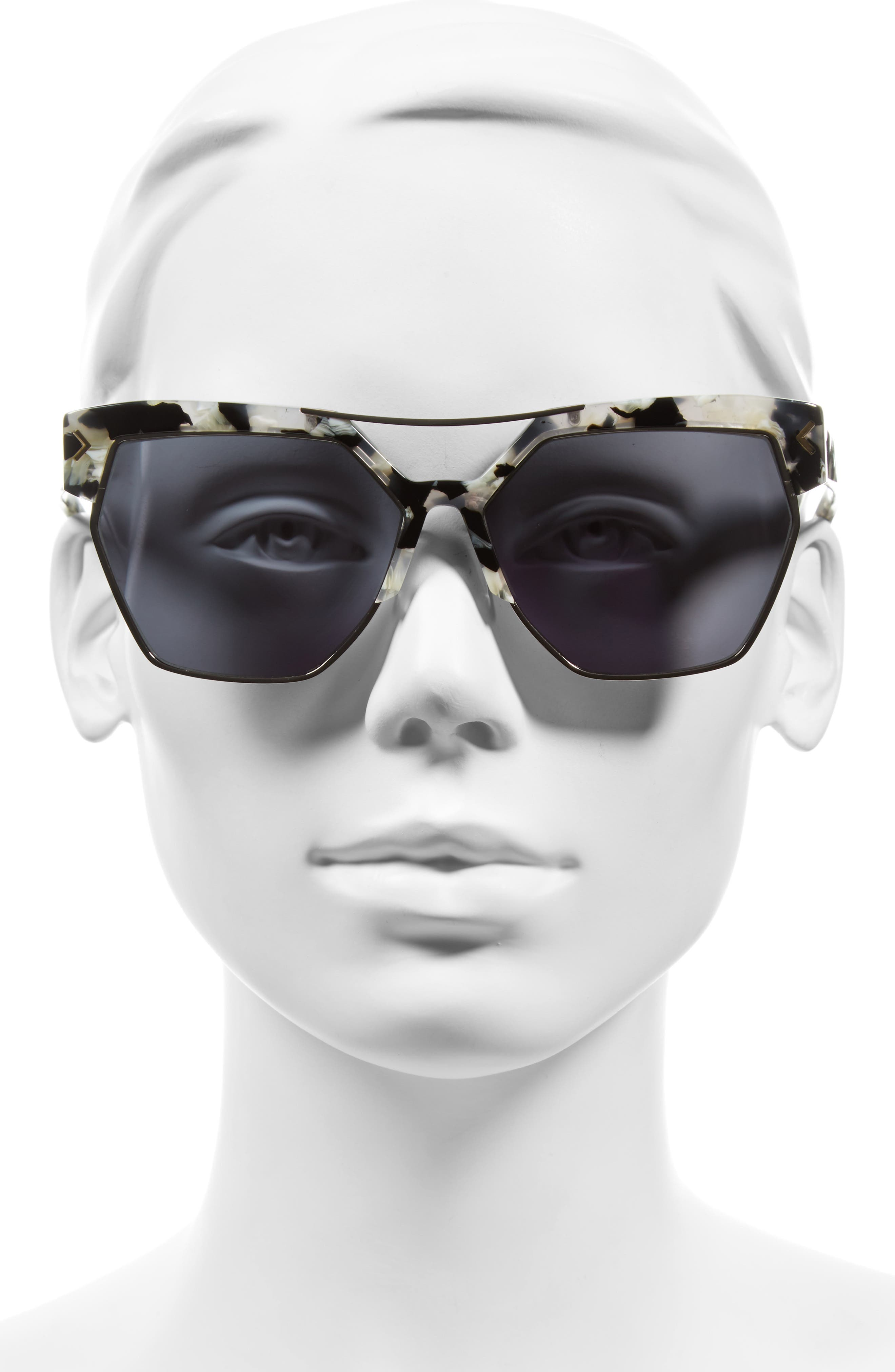 55mm Retro Sunglasses,                             Alternate thumbnail 7, color,