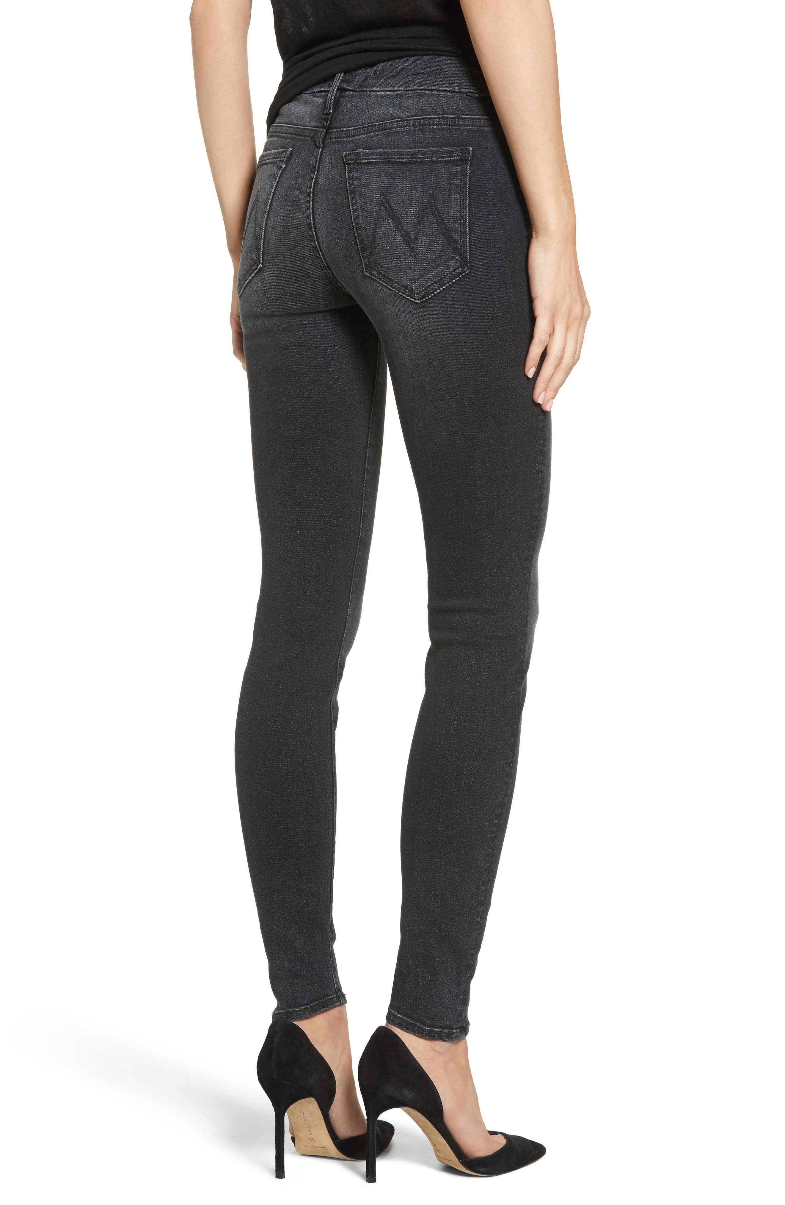 The Looker Mid Rise Skinny Jeans,                             Alternate thumbnail 2, color,                             NIGHT HAWK