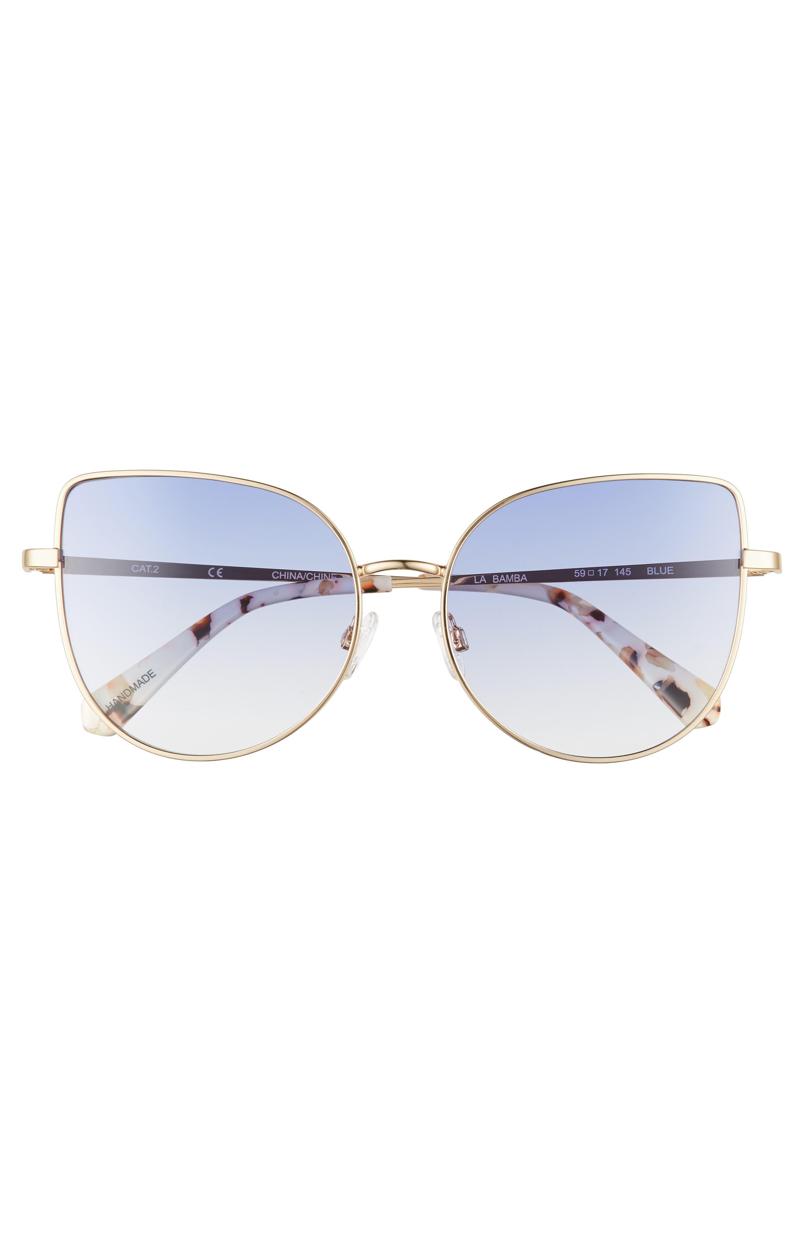 CHELSEA28,                             La Bamba 59mm Sunglasses,                             Alternate thumbnail 3, color,                             420