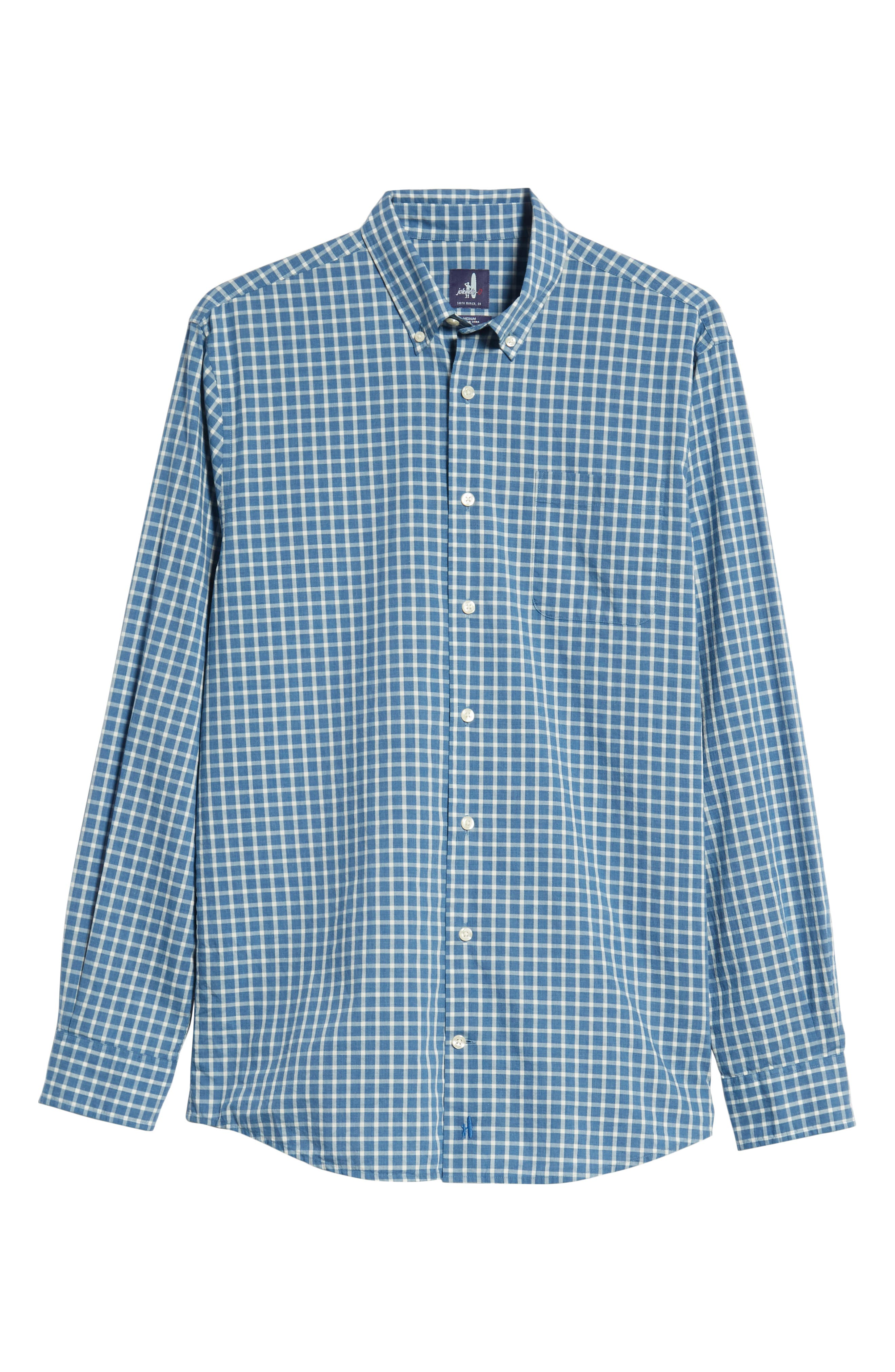 Dunmore Classic Fit Sport Shirt,                             Alternate thumbnail 5, color,                             MARINER
