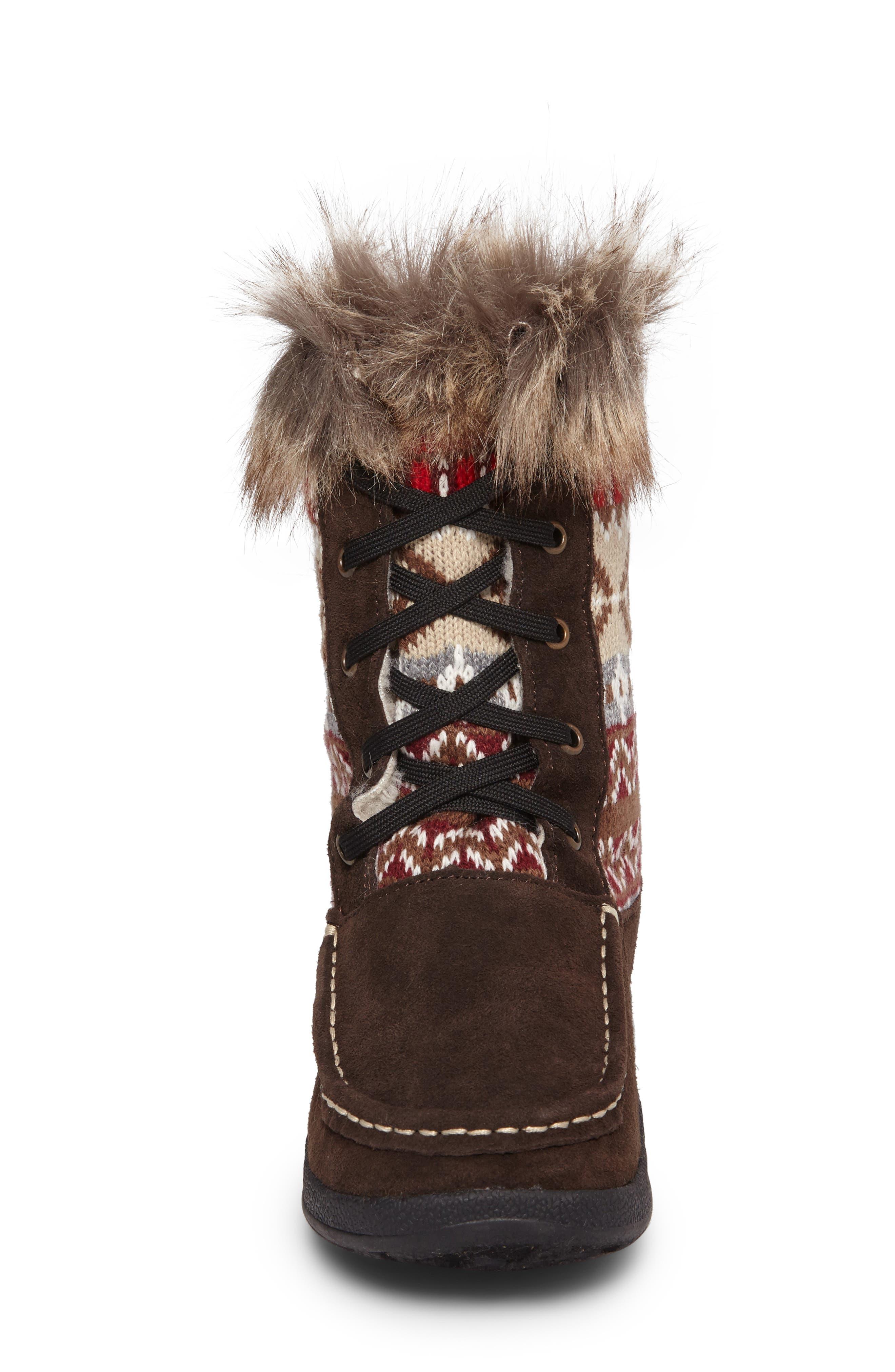 Doe Creek II Faux Fur Trim Boot,                             Alternate thumbnail 11, color,