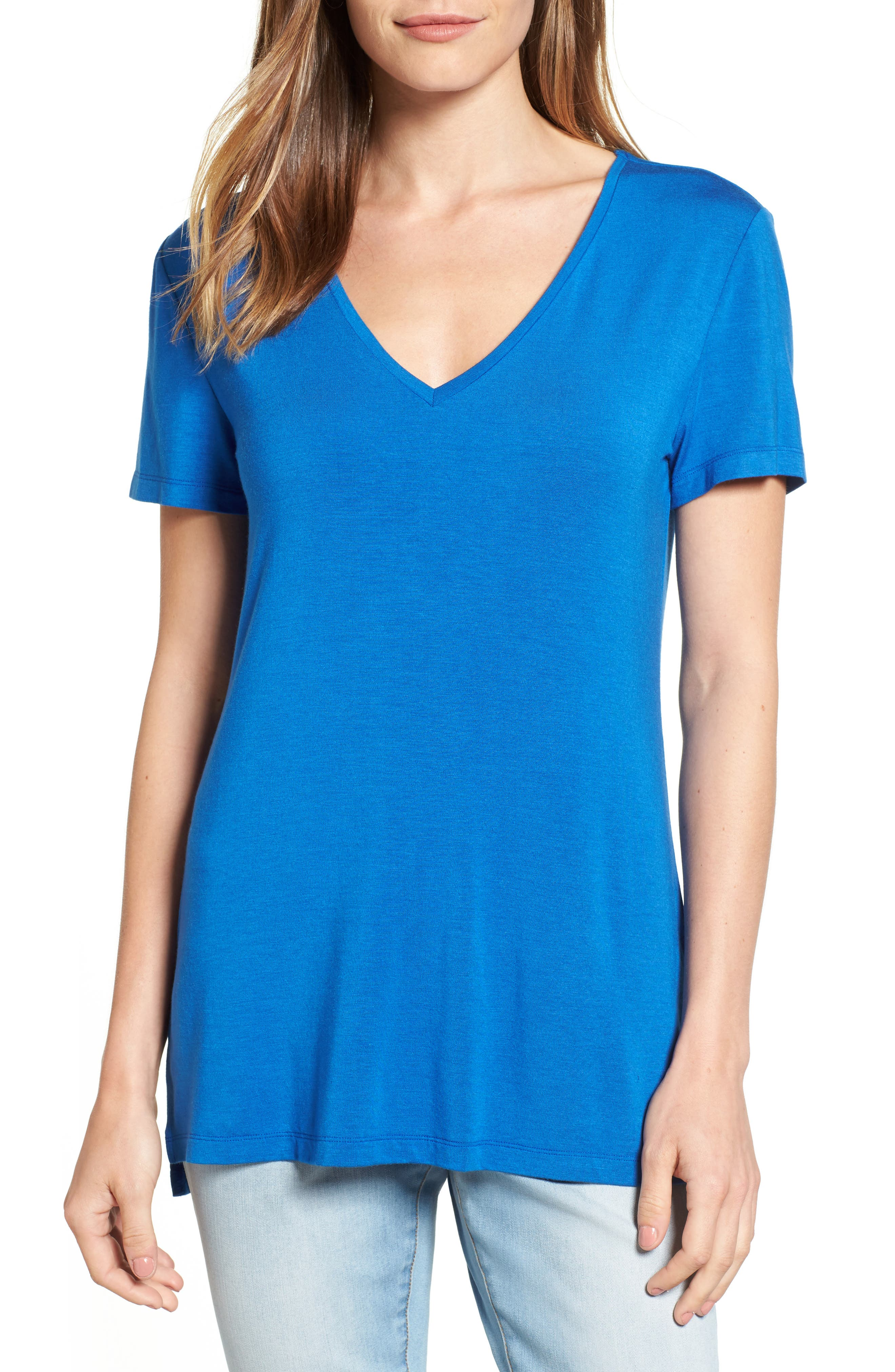 V-Neck Tunic Tee,                             Main thumbnail 10, color,