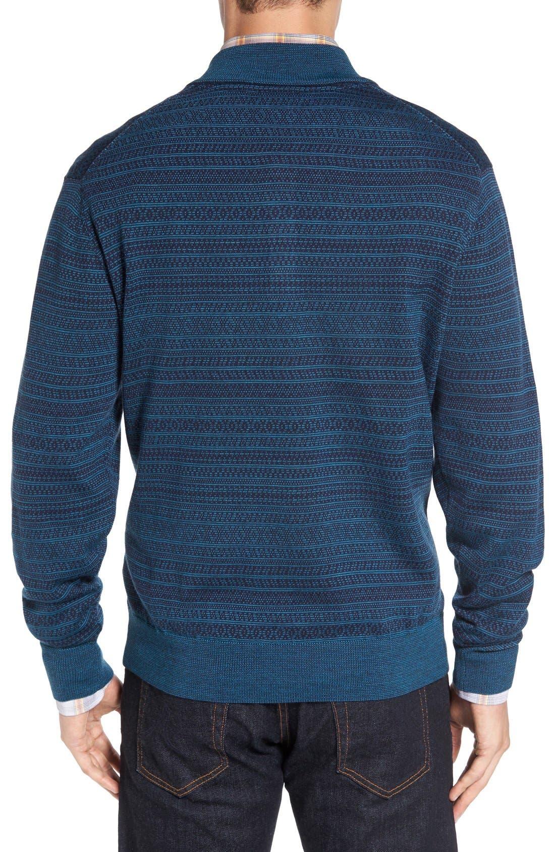 'Douglas Forest' Jacquard Wool Blend Sweater,                             Alternate thumbnail 5, color,
