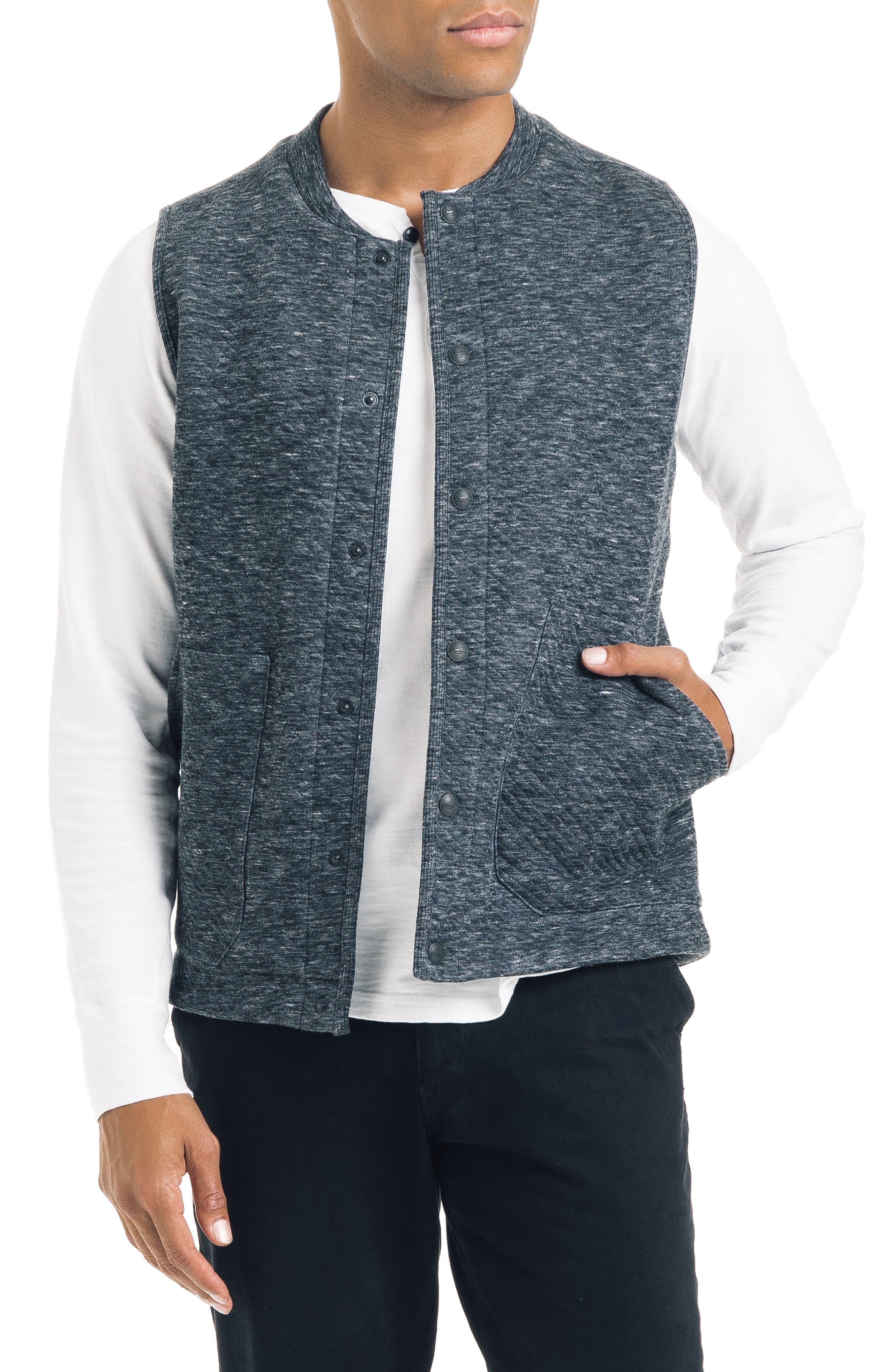 Good Man Brand Slim Fit Vest, Grey