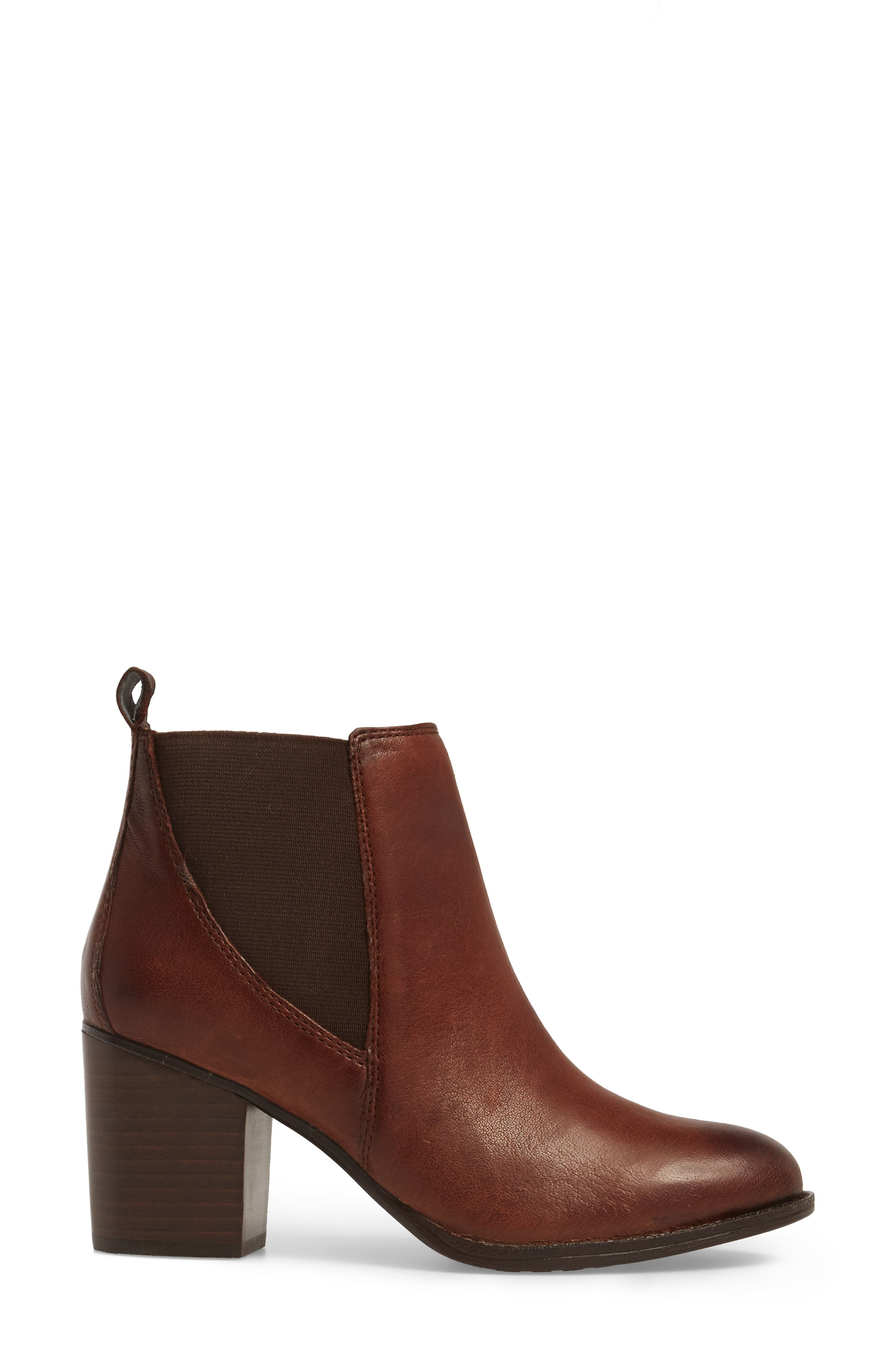 Welling Bootie,                             Alternate thumbnail 3, color,                             CAFFE LEATHER