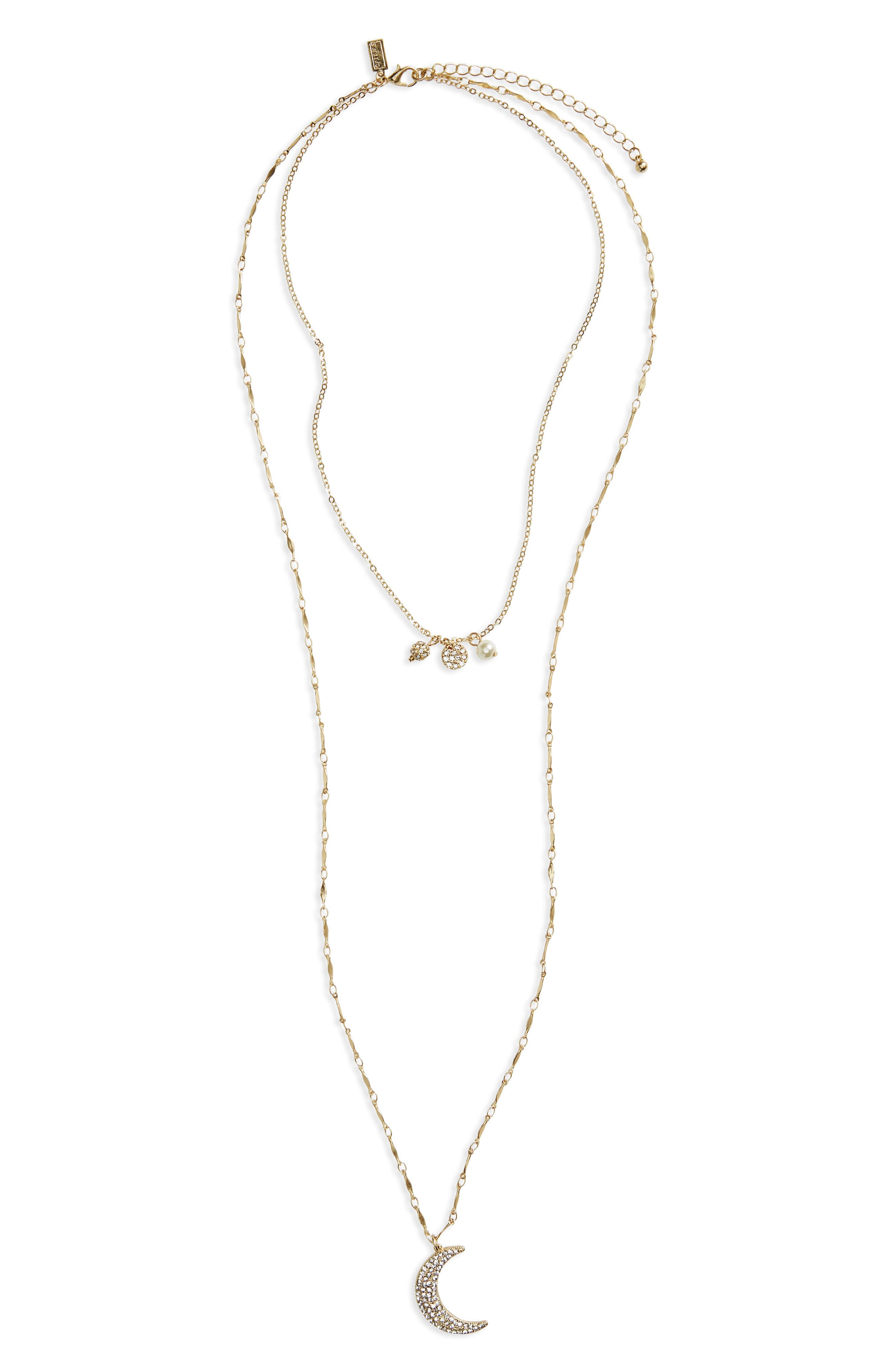 Layered Pendant Necklace,                         Main,                         color, 710