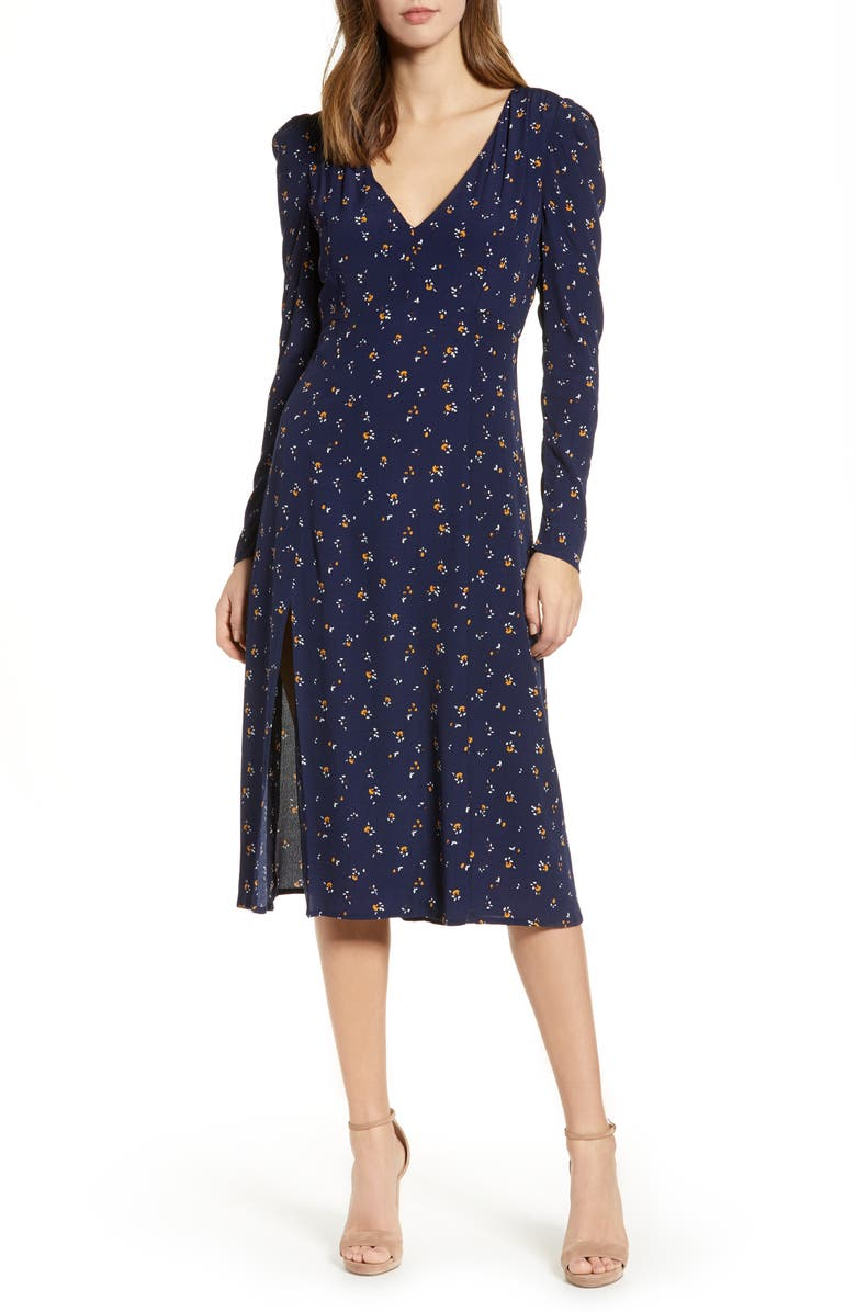 74f6be70bc Madison   Berkeley Deep-V Midi Dress