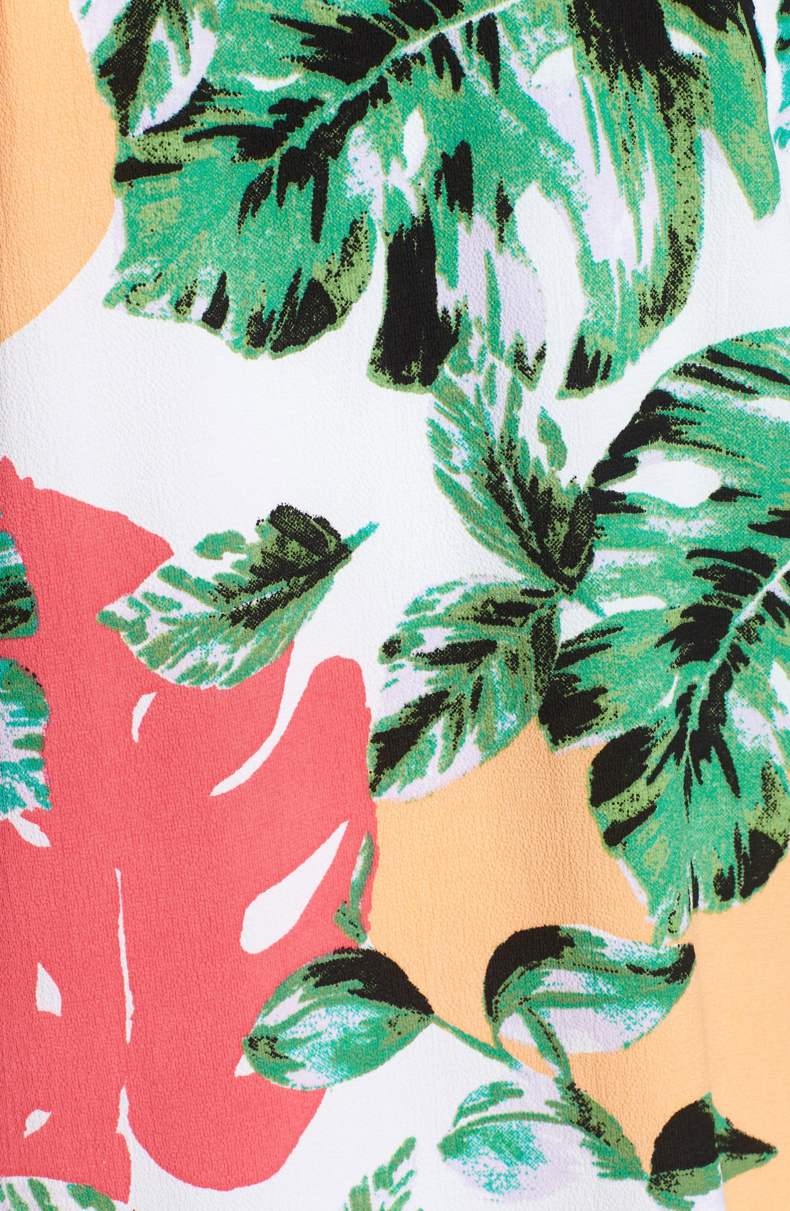 Vacation Print Kimono,                             Alternate thumbnail 5, color,                             CORAL PALMS PLEASE
