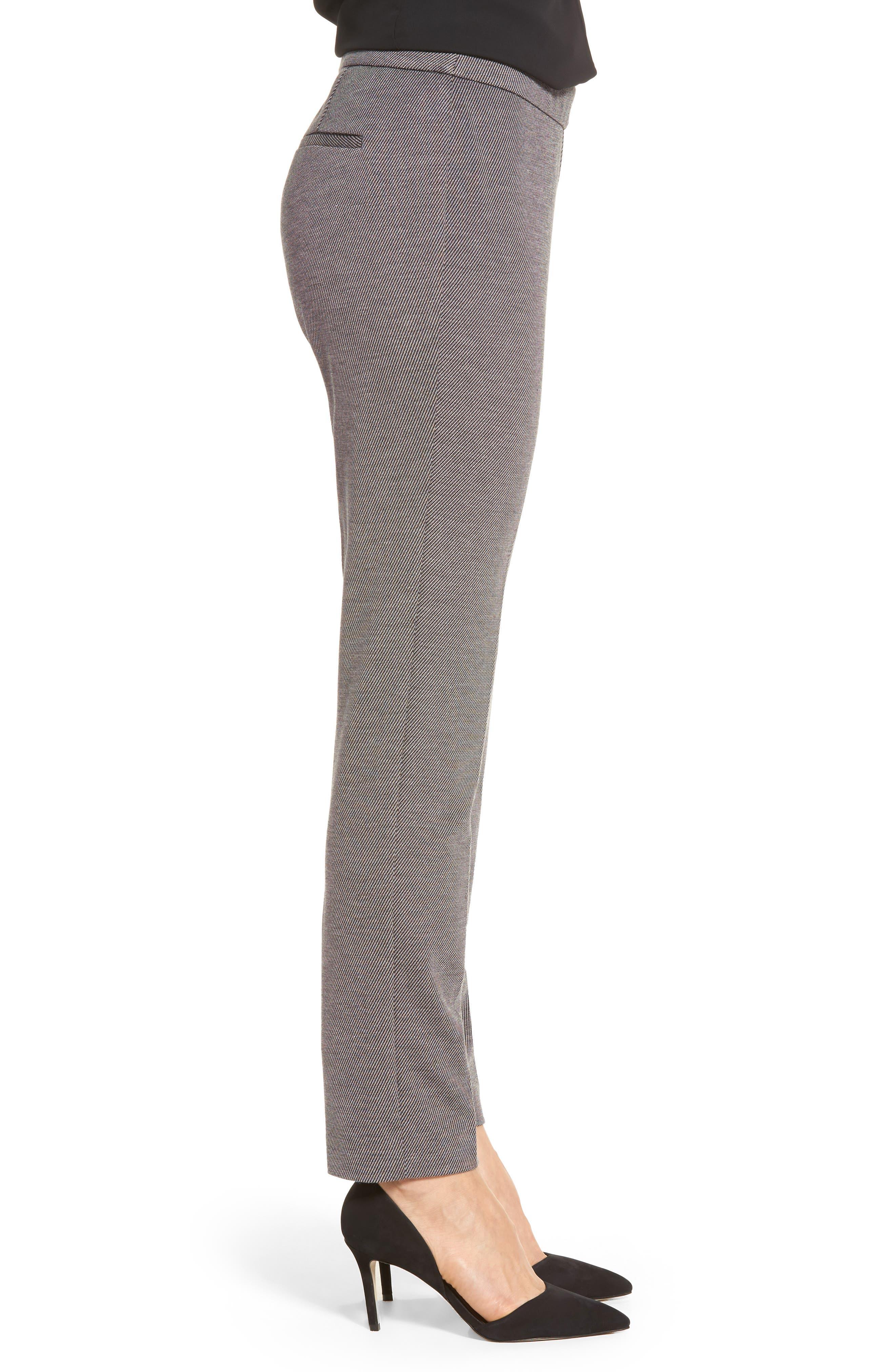 Slim Twill Ponte Knit Pants,                             Alternate thumbnail 3, color,                             020
