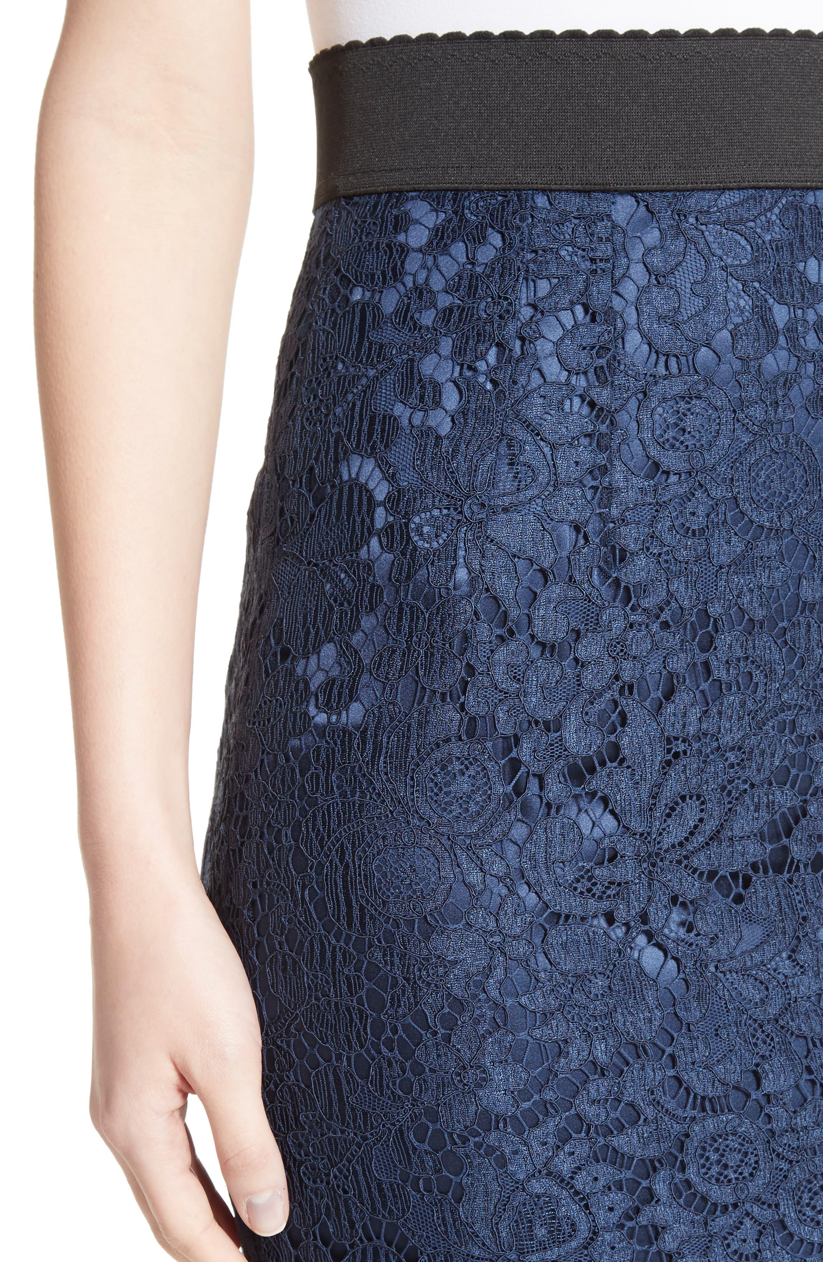 Lace Pencil Skirt,                             Alternate thumbnail 4, color,