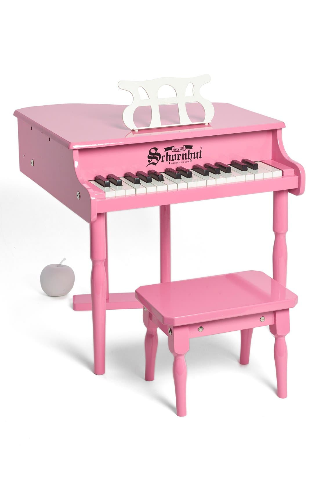'Classic' Baby Grand Piano,                             Alternate thumbnail 2, color,                             PINK