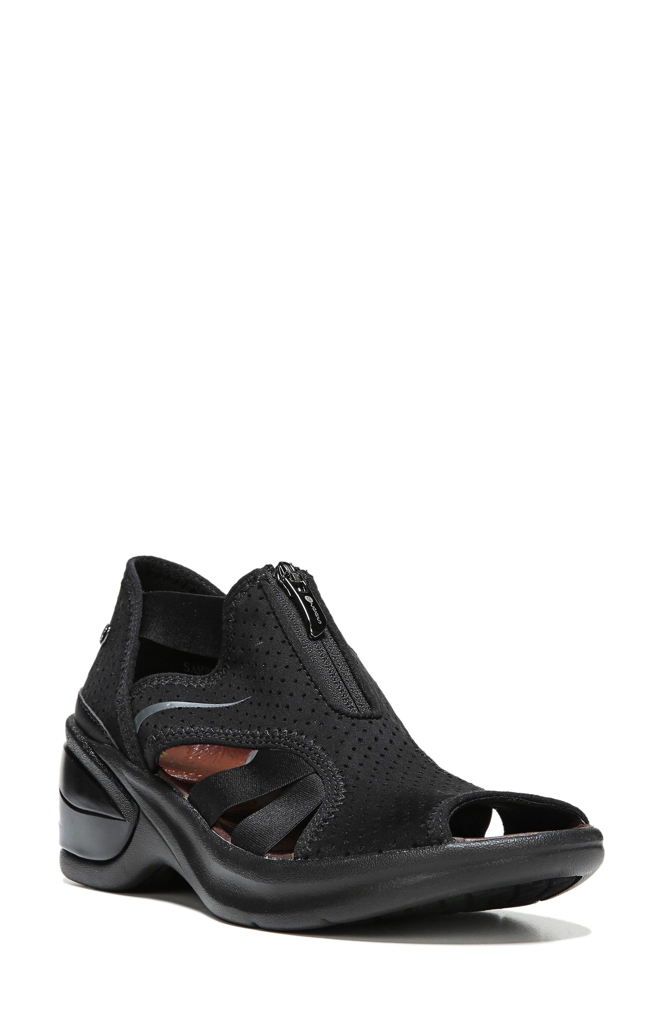 Krave Sandal,                             Main thumbnail 1, color,                             BLACK FABRIC